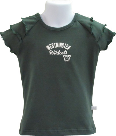 Third Street Sportswear T: Third Street SS Ruffle - Dark Green