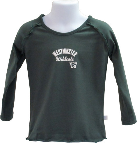 Third Street Sportswear T: Third Street LS Ruffle - Dark Green
