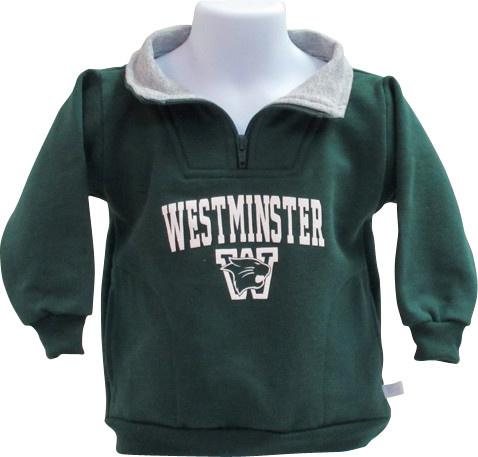 Pullover: Third Street Toddler 1/4 Zip- Green/Gray