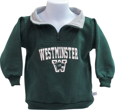 Third Street Sportswear Pullover: Third Street Toddler 1/4 Zip- Green/Gray