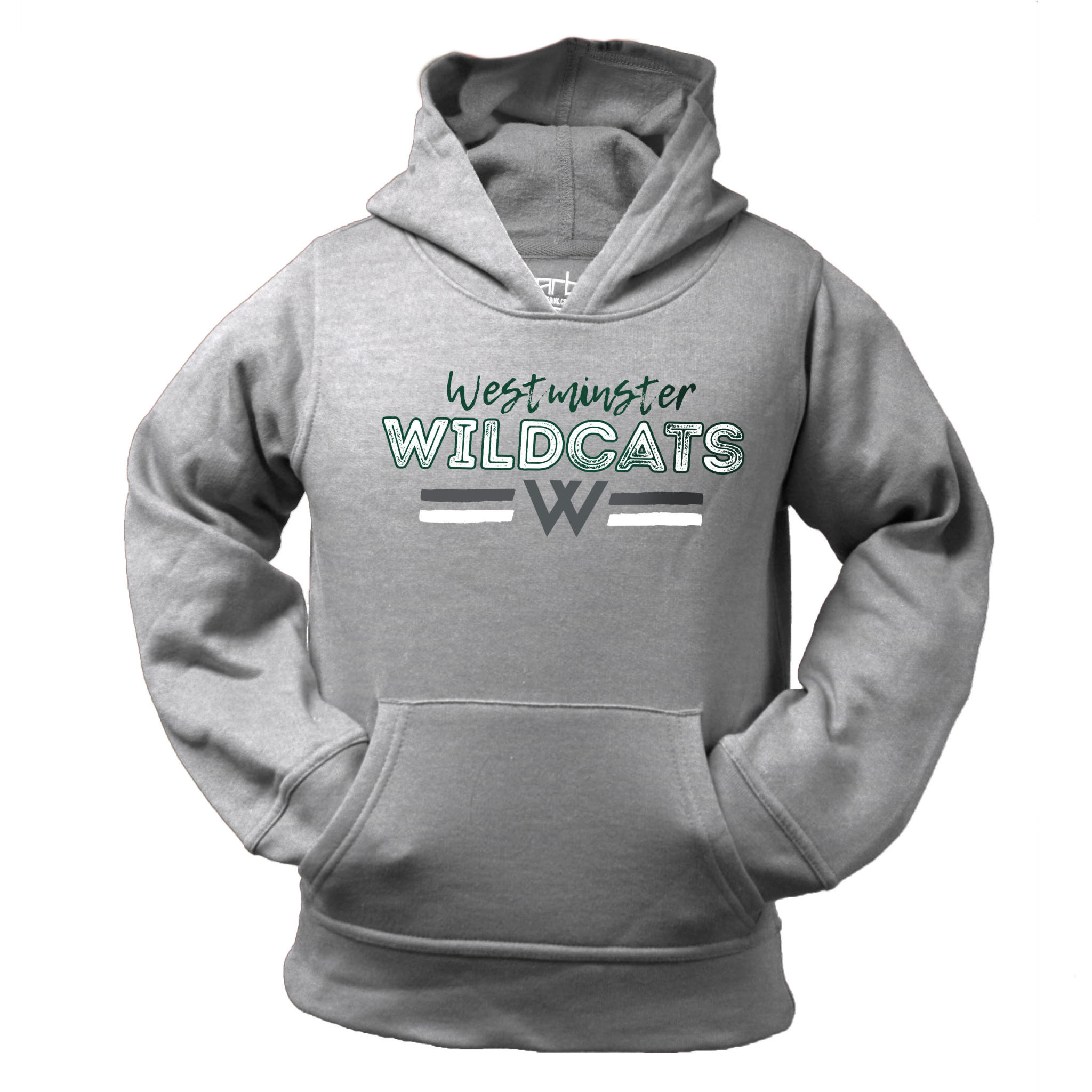 Sweatshirt: Garb Parker Hoody Gray