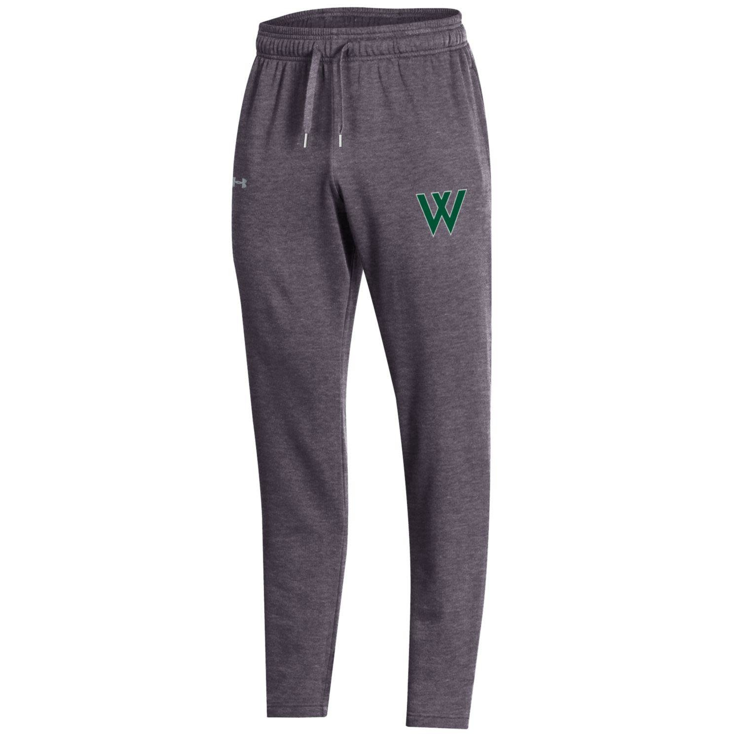 Sweatpants: UA Mens All Day Open Bottom - Carbon