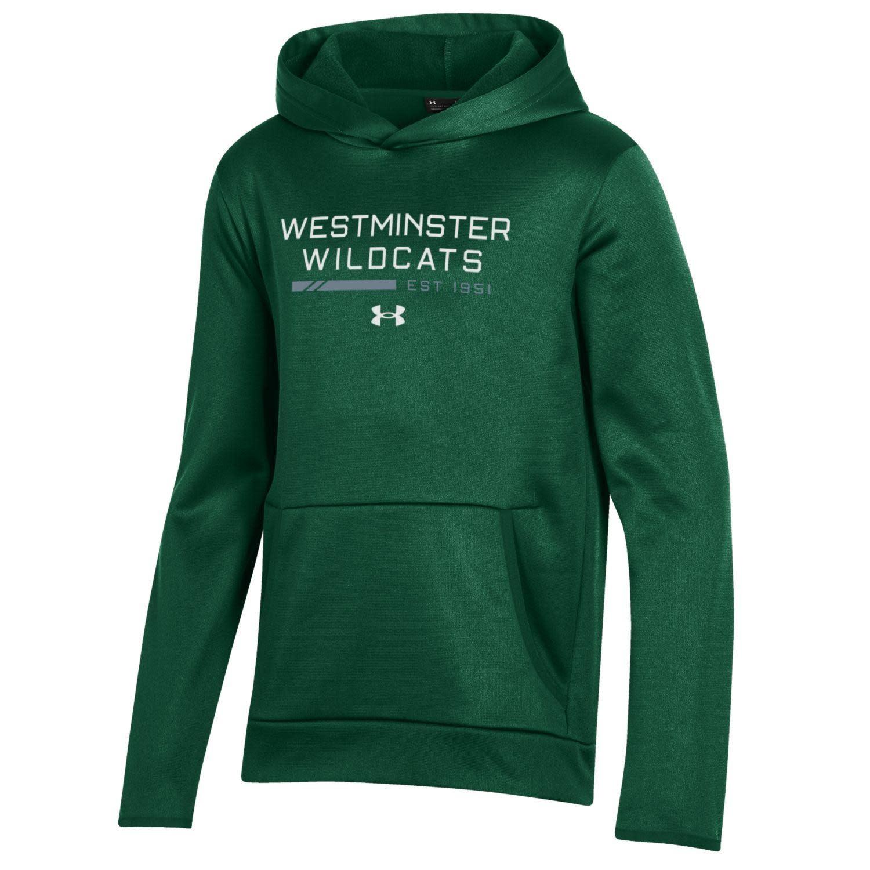 Sweatshirt: UA Fleece Hood Forest Green