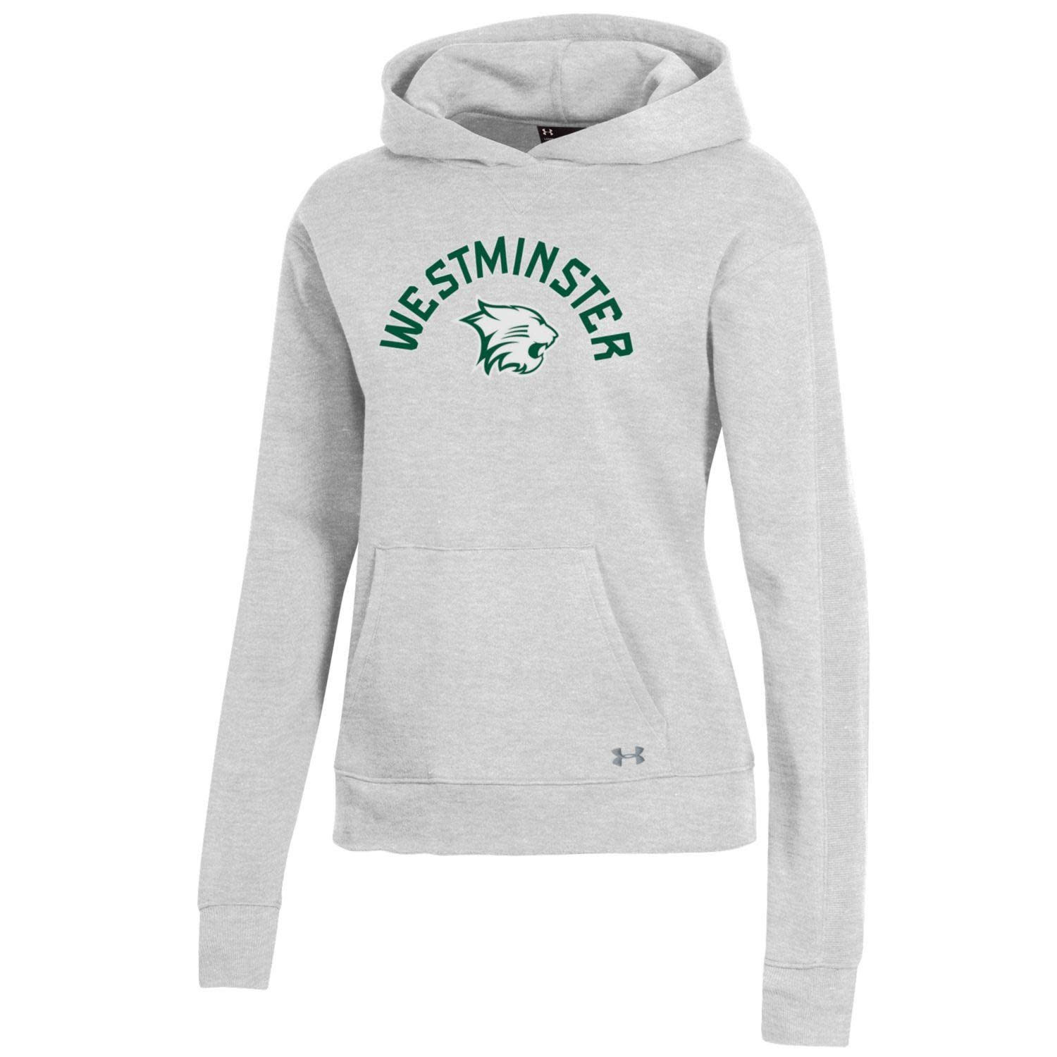 Under Armour Hoody: UA Womens Core Cotton Hood - Silver Heather