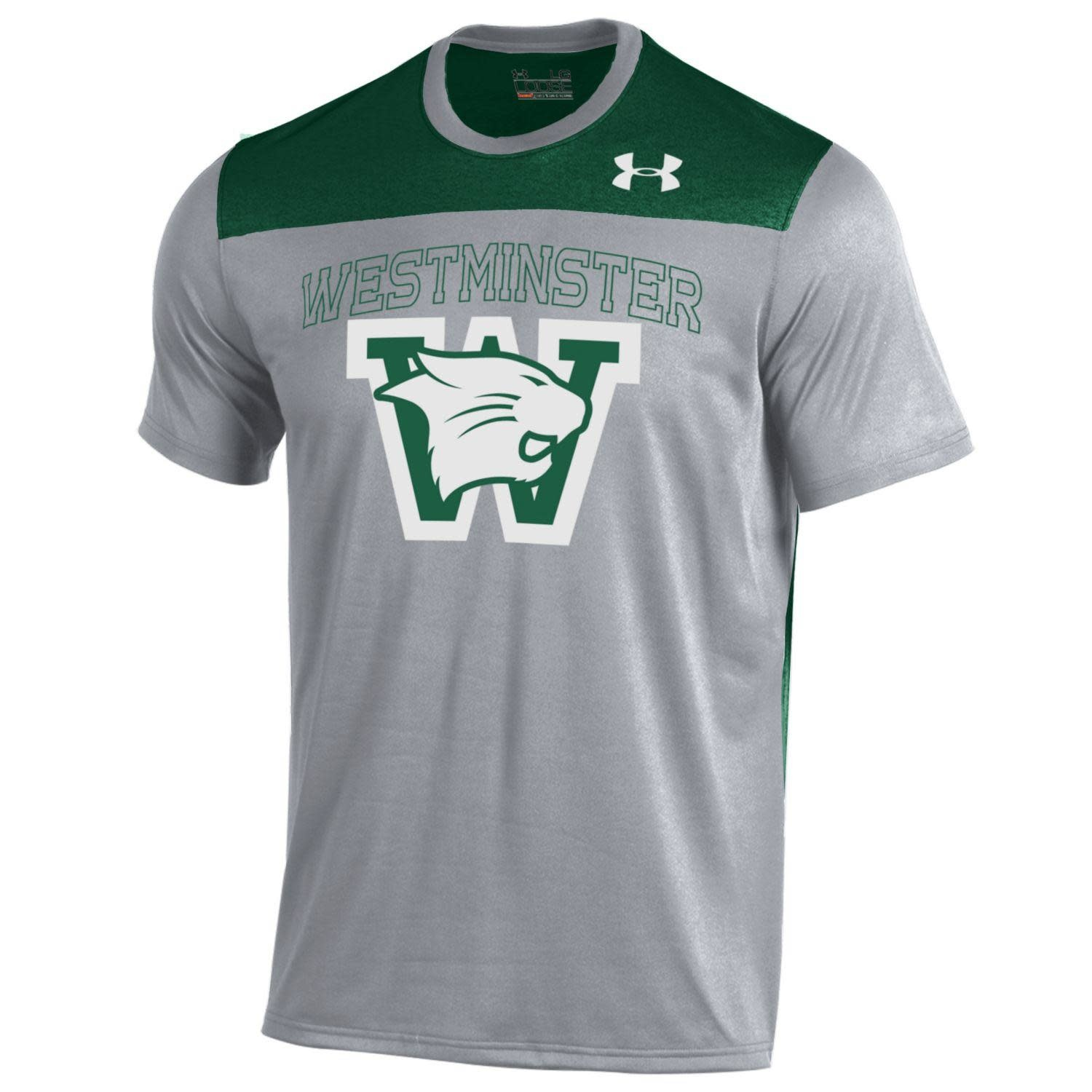 Under Armour T: UA Tech Green/Gray/White Cathead over W
