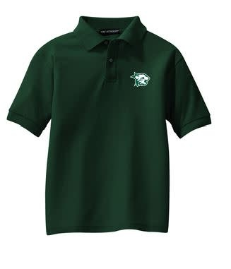 Port Authority Polo: Youth Silk Touch Green