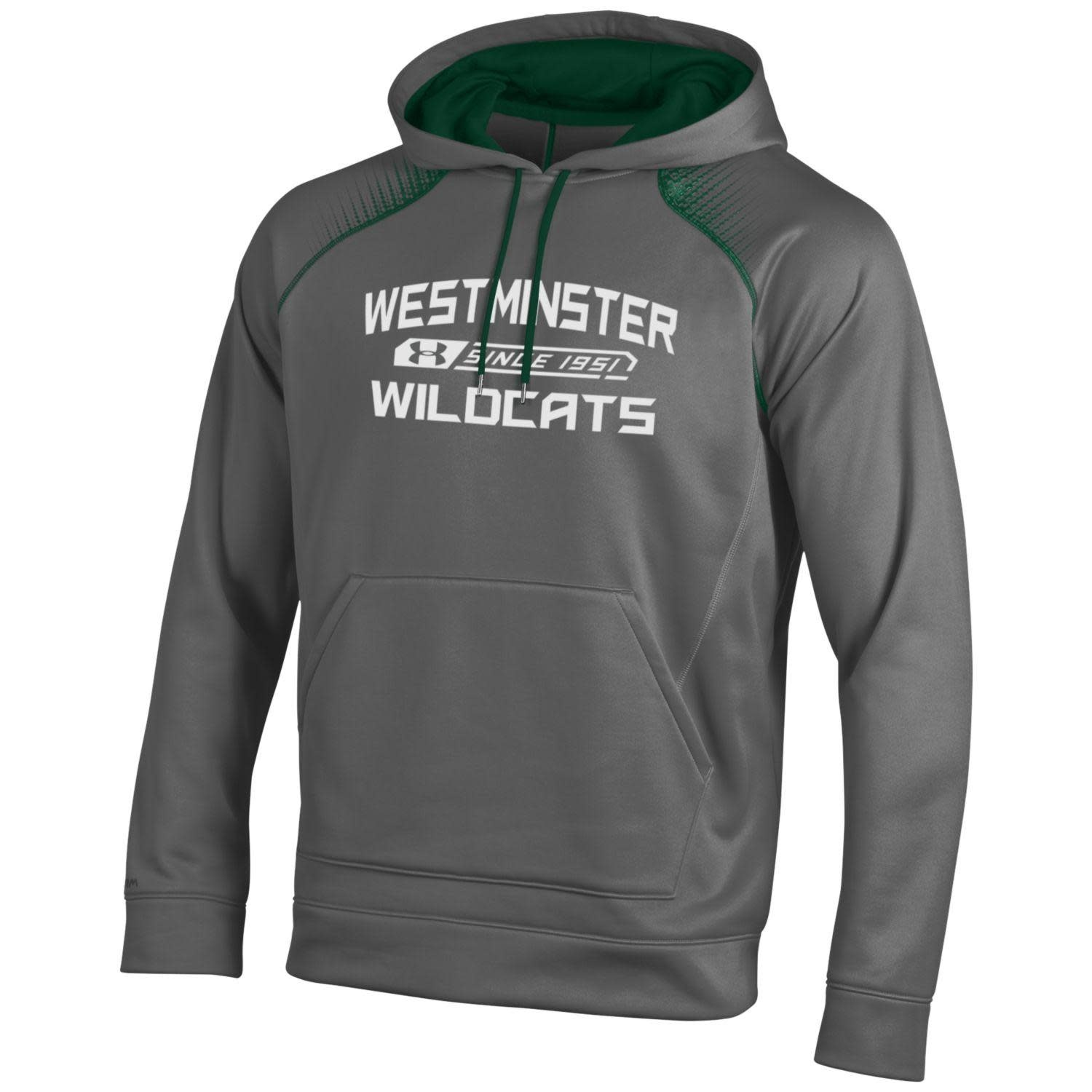 Sweatshirt: UA Medium Graphite w/White Westminster Wildcats since 1951