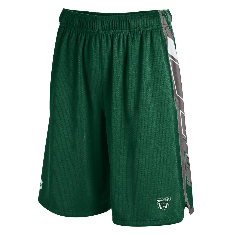Under Armour Shorts: UA Green Basketball - side panels