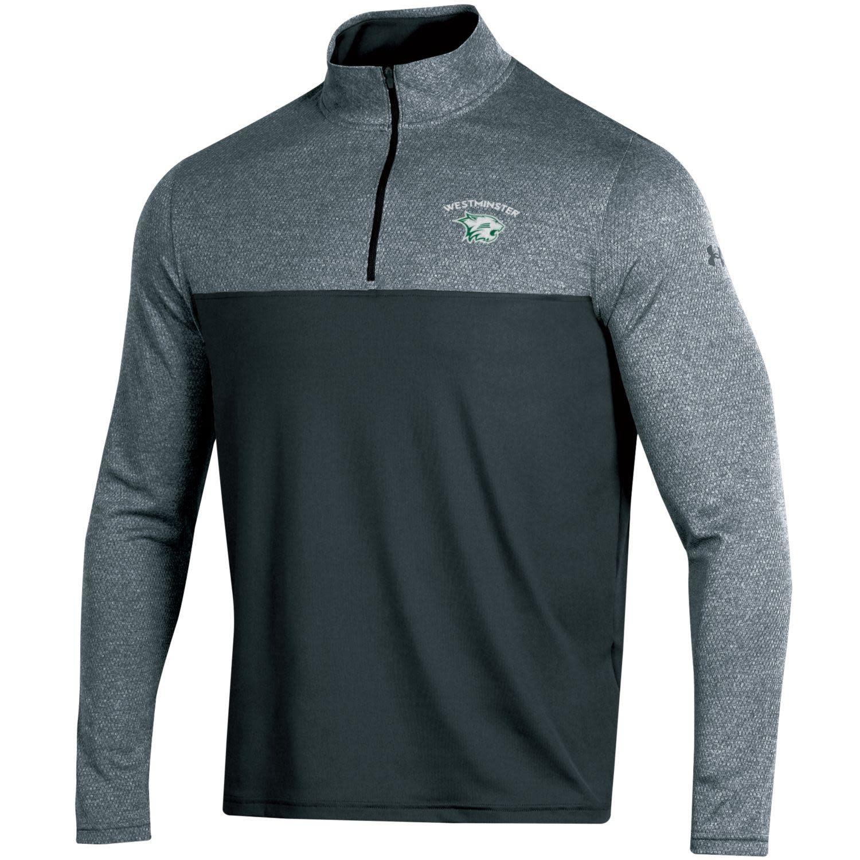 Pullover: UA 1/4 Zip Black/Gray