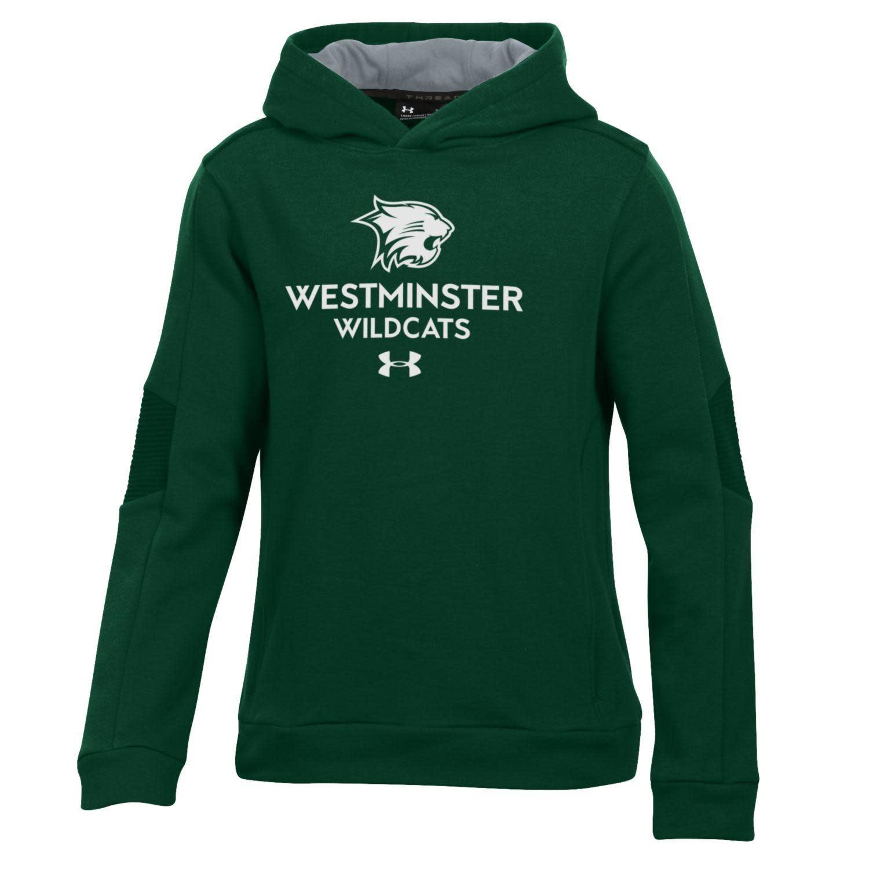 Sweatshirt: UA Threadborne Ridge Hood Forest Green