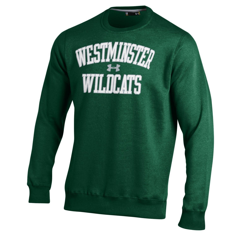 Under Armour Sweatshirt: UA Rival Fleece Crew - UA logo, West Wildcats - Green