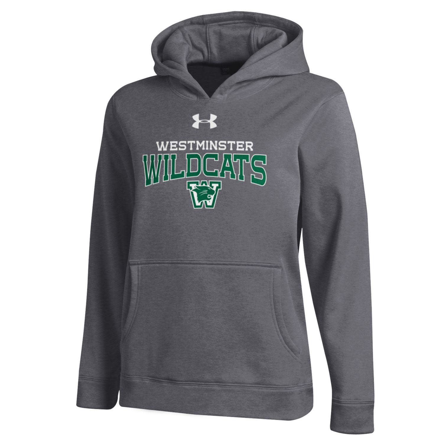 Sweatshirt: UA Youth Small Performance Hoody - Carbon Heather