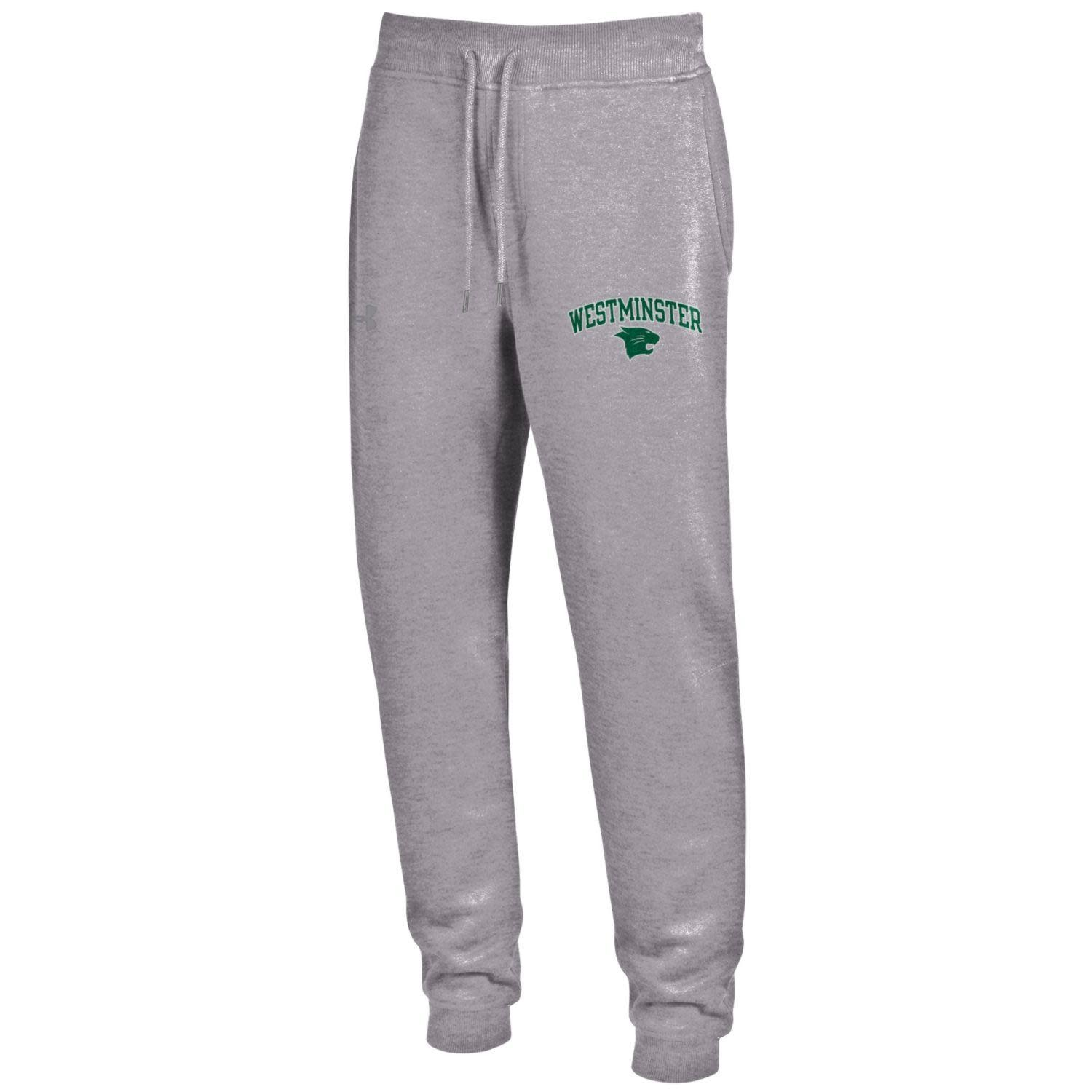 Under Armour Sweatpants: UA Rival Cotton True Gray Heather - Ribbed Top and Cuff