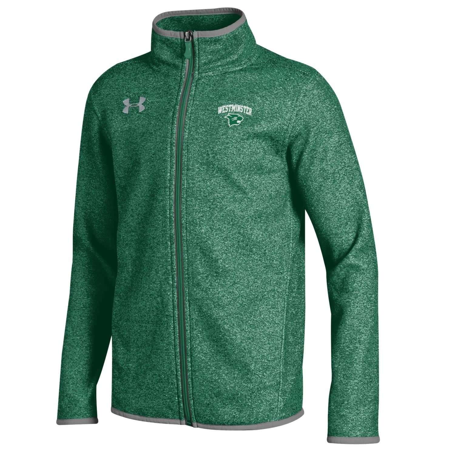 Under Armour Jacket: UA YXL Boys Microfleece full zip Green Heather