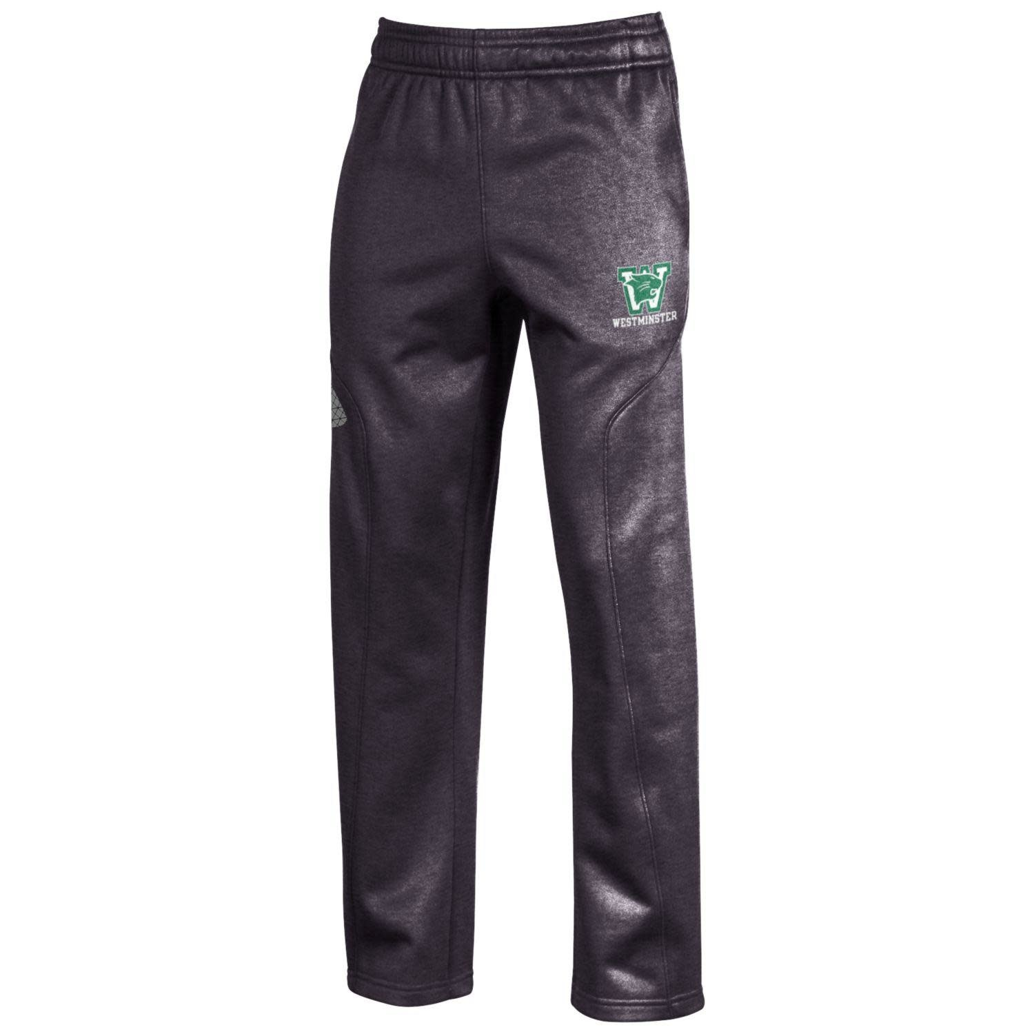 Under Armour Sweatpants: UA Youth Small Armour Fleece - Carbon Heather - Westminster under logo