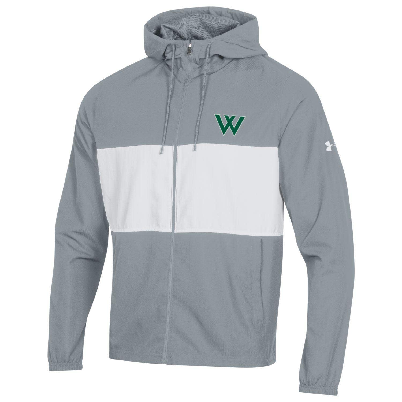 Under Armour Jacket: Men's Sportstyle Wind Full Zip, Steel