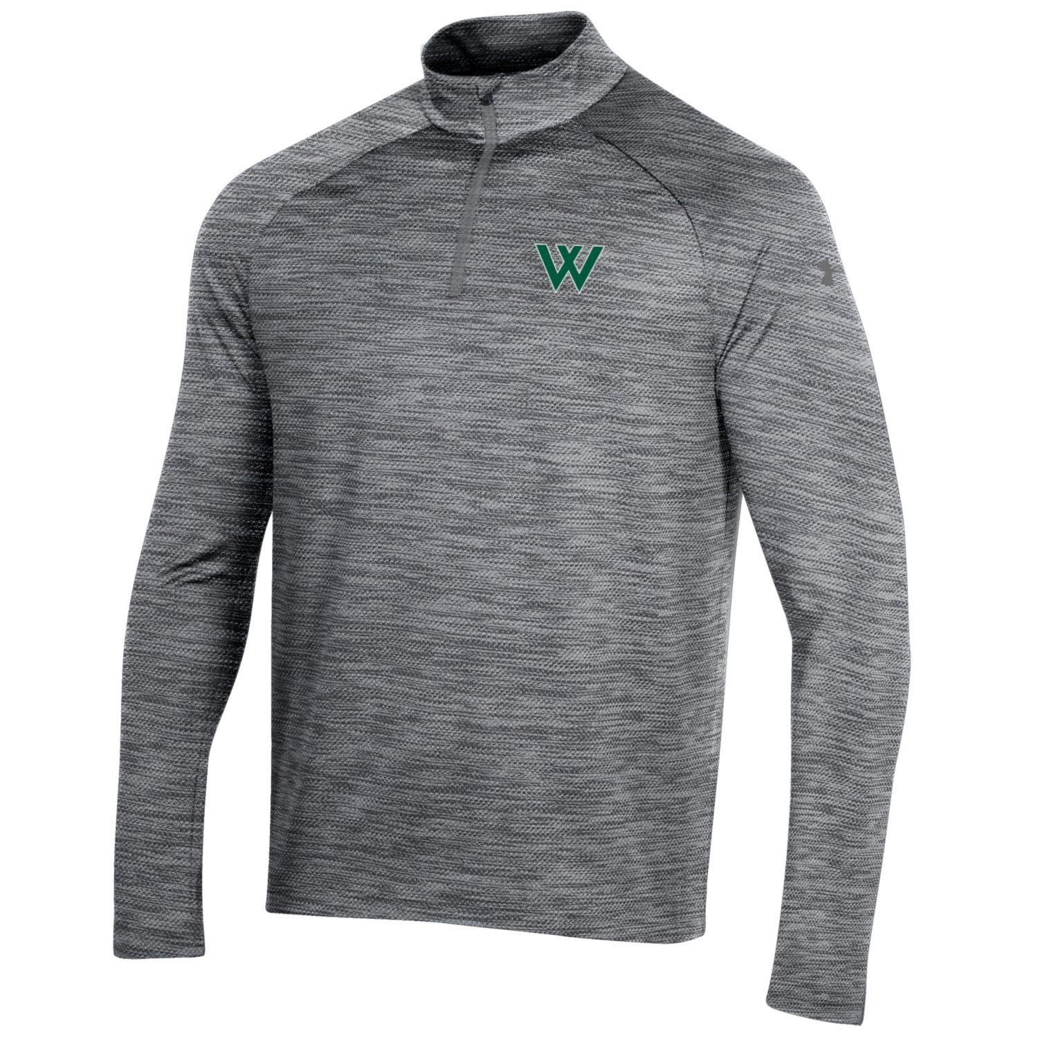 Under Armour Pullover: UA Mens Performance 2.0 1/4 Zip, Pitch Gray