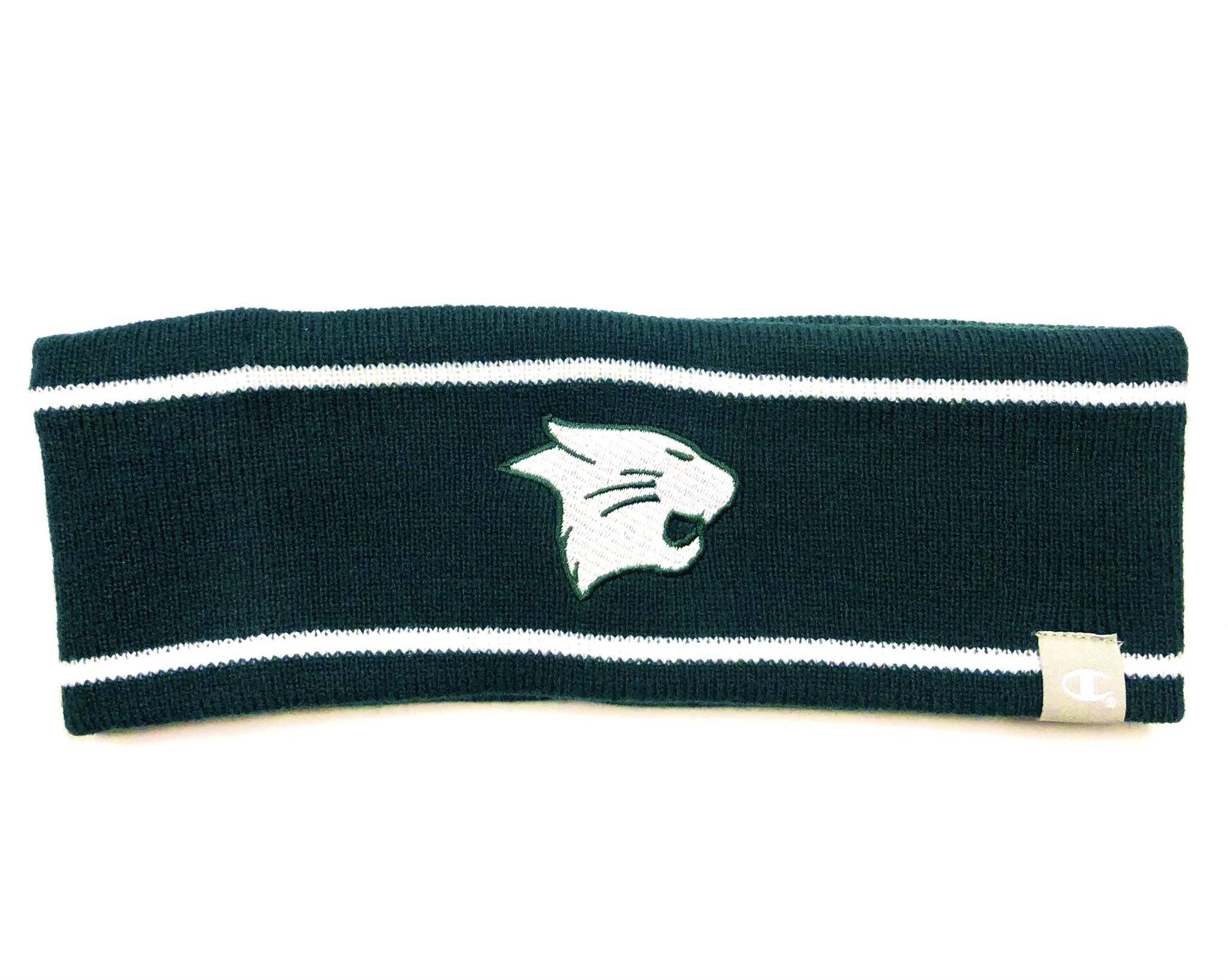 Champion Headband: Champion Knit Ski Band - Green/White
