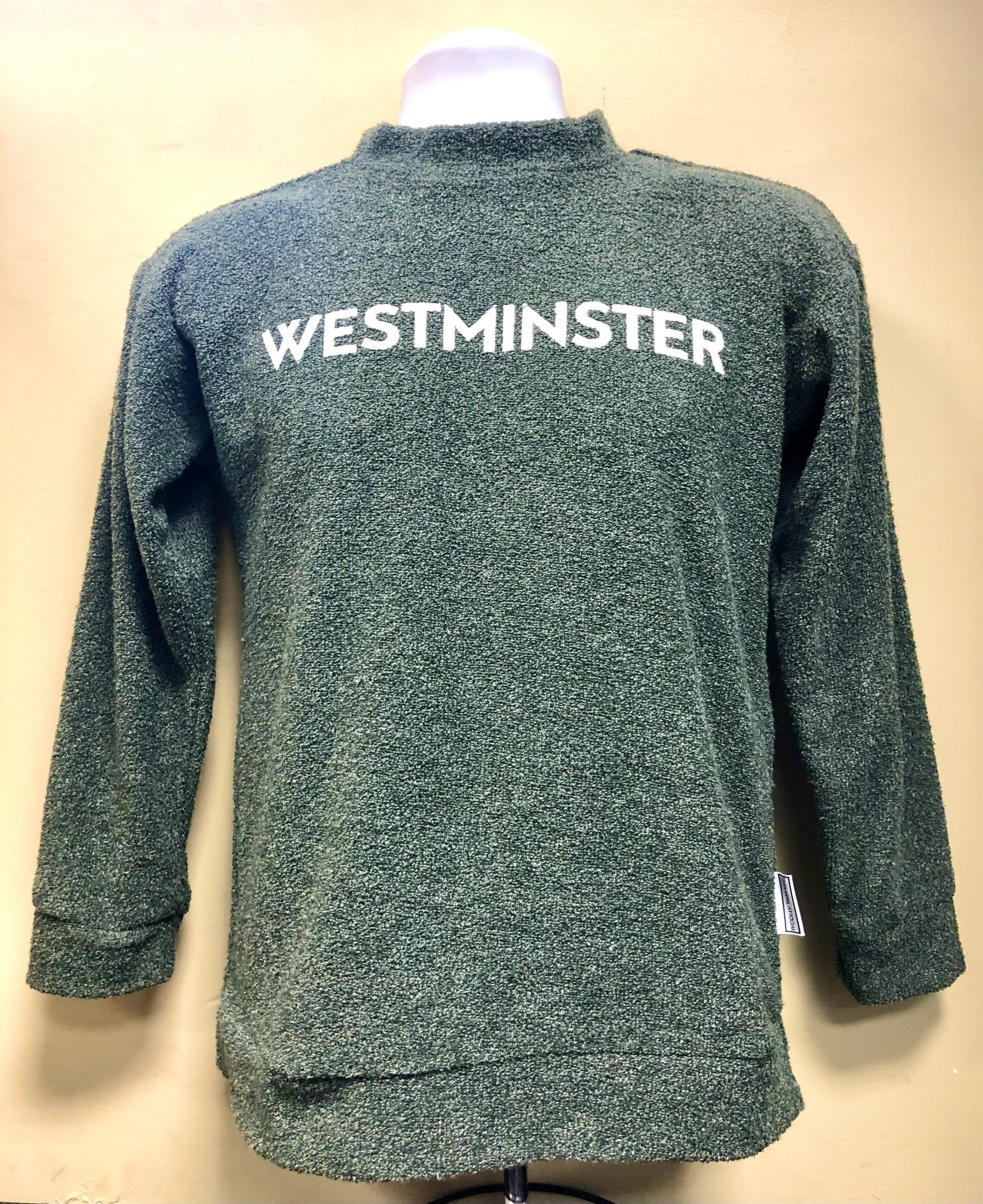 Sweatshirt: Woolly Threads Women's Heathered Green