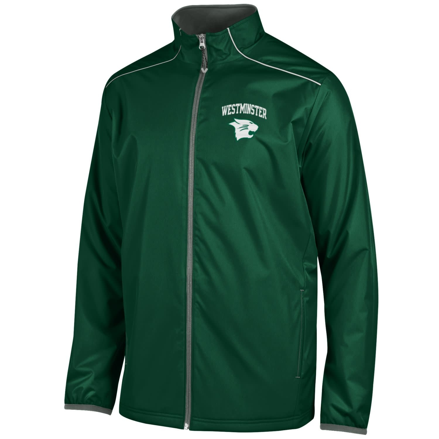 Champion Jacket: Champion Men's Dark Green/Titanium
