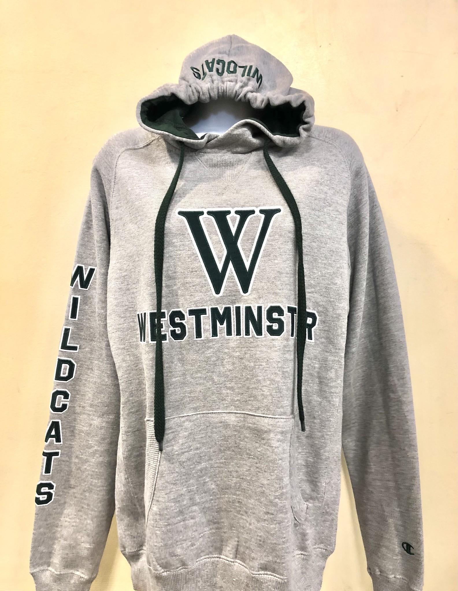 Champion Sweatshirt: Champion Heritage Pullover Hood - Heritage Gray