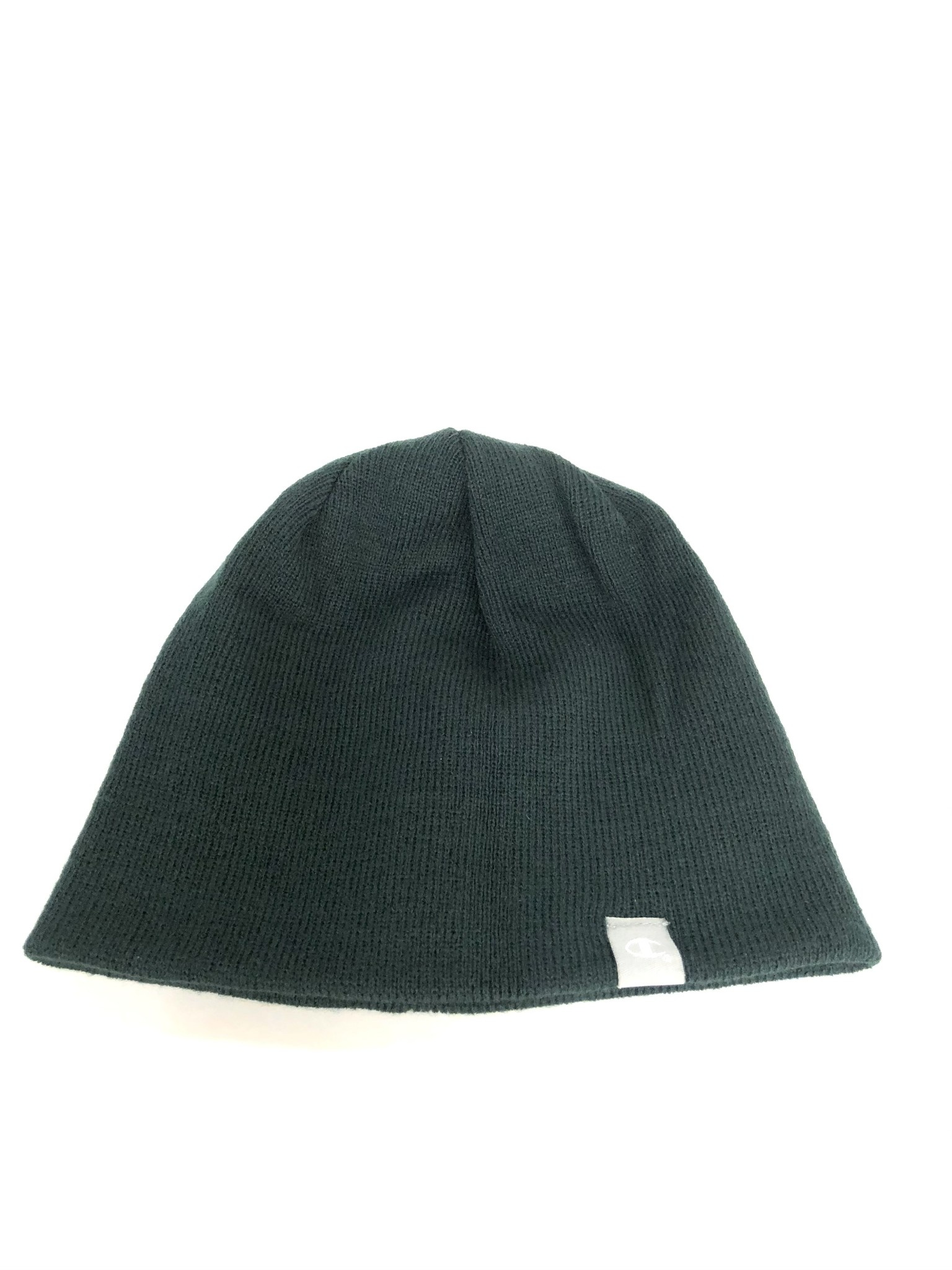 Champion Hat: Reversible Stripe Beanie - Green with Gold Stripe