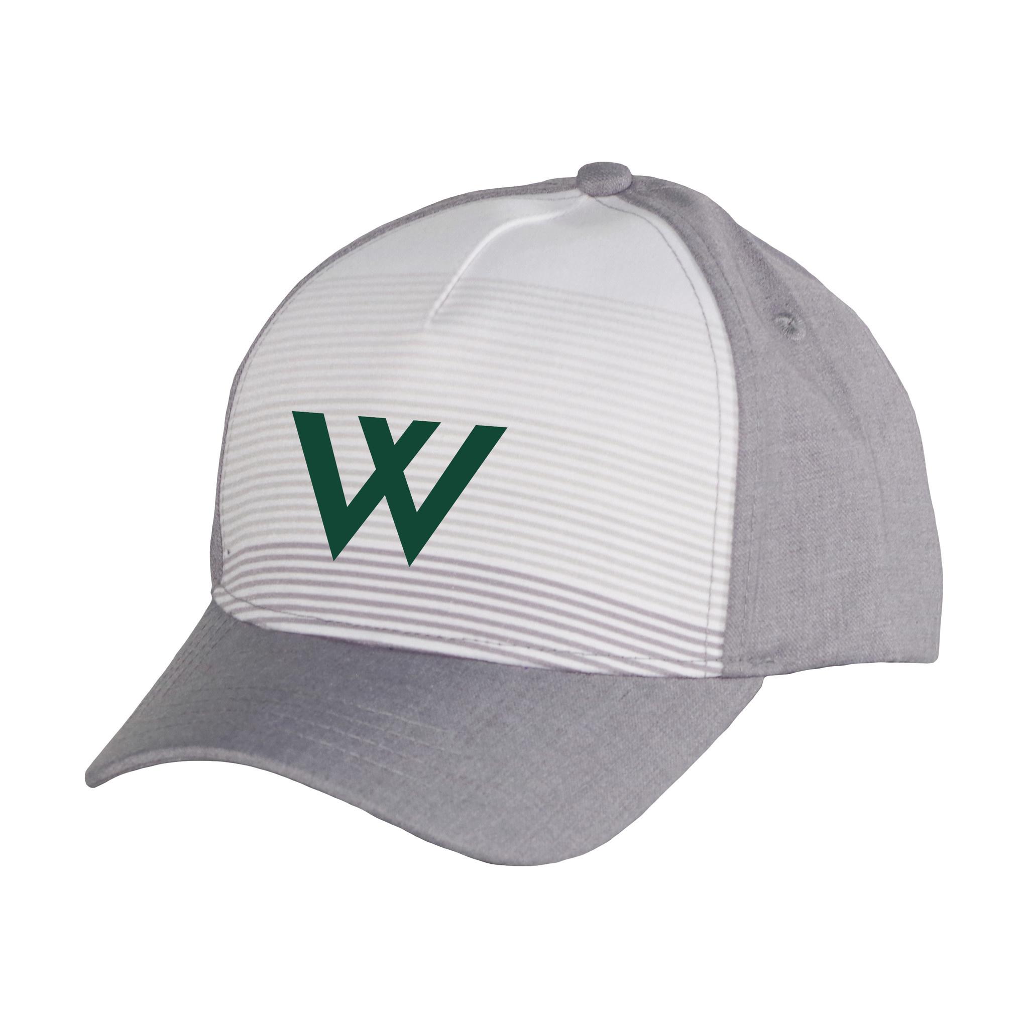 Garb Hat: Youth Ezra Gray Stripes with W