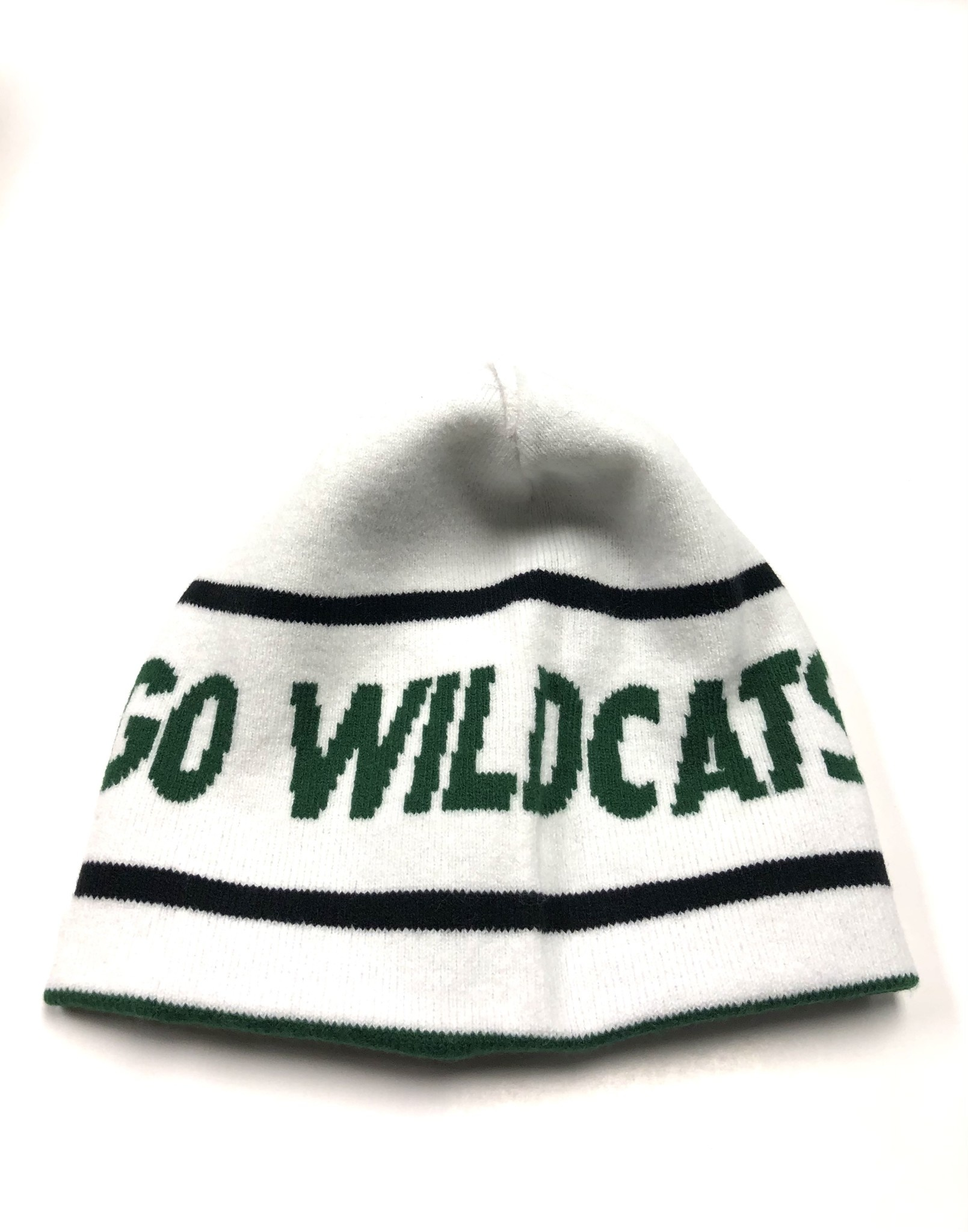 Nike Hat: Nike Reversible Knit - Green with Logo/White with Go Wildcats
