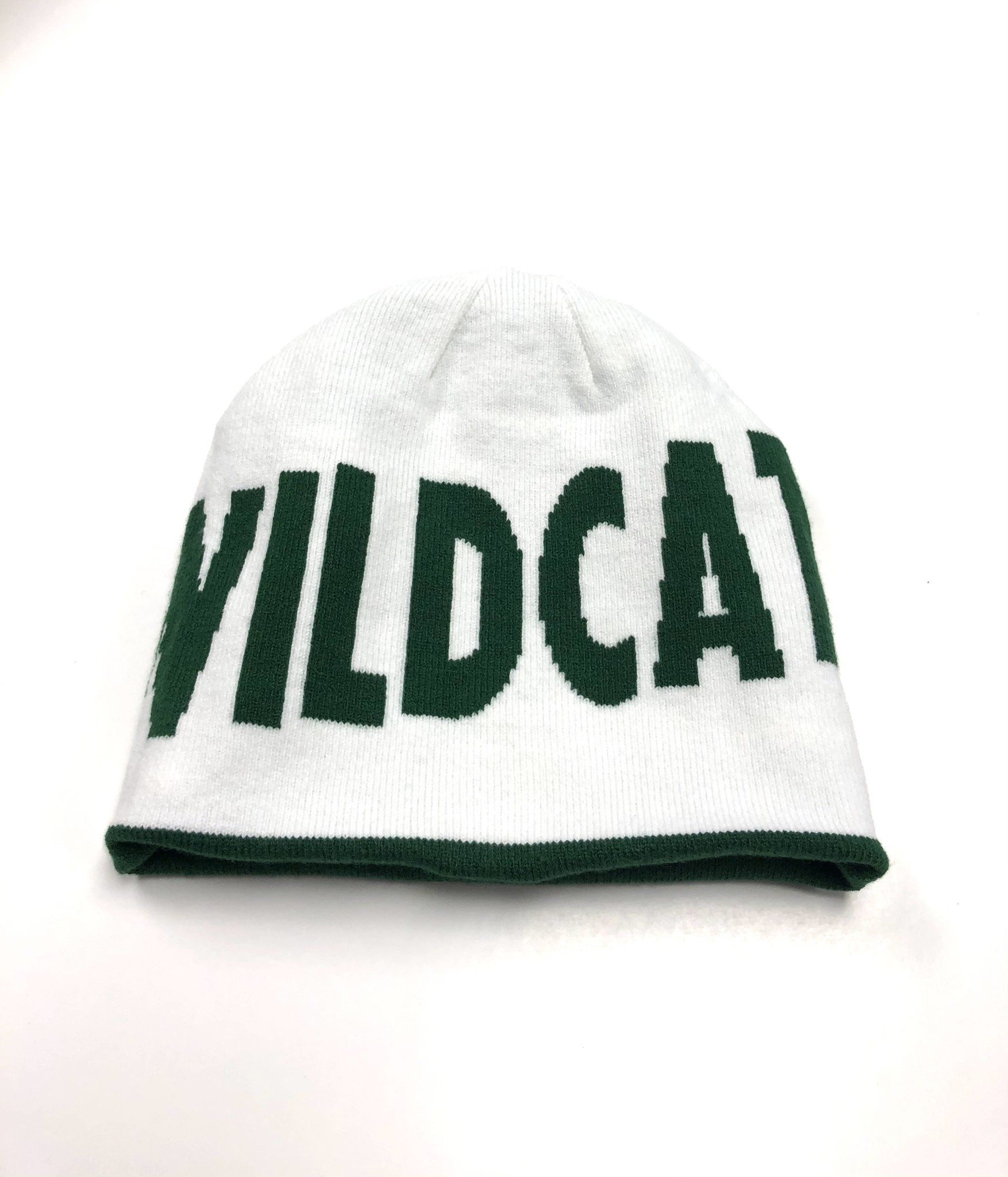 Nike Hat: Nike Youth Striped Beanie Reversible with Wildcats