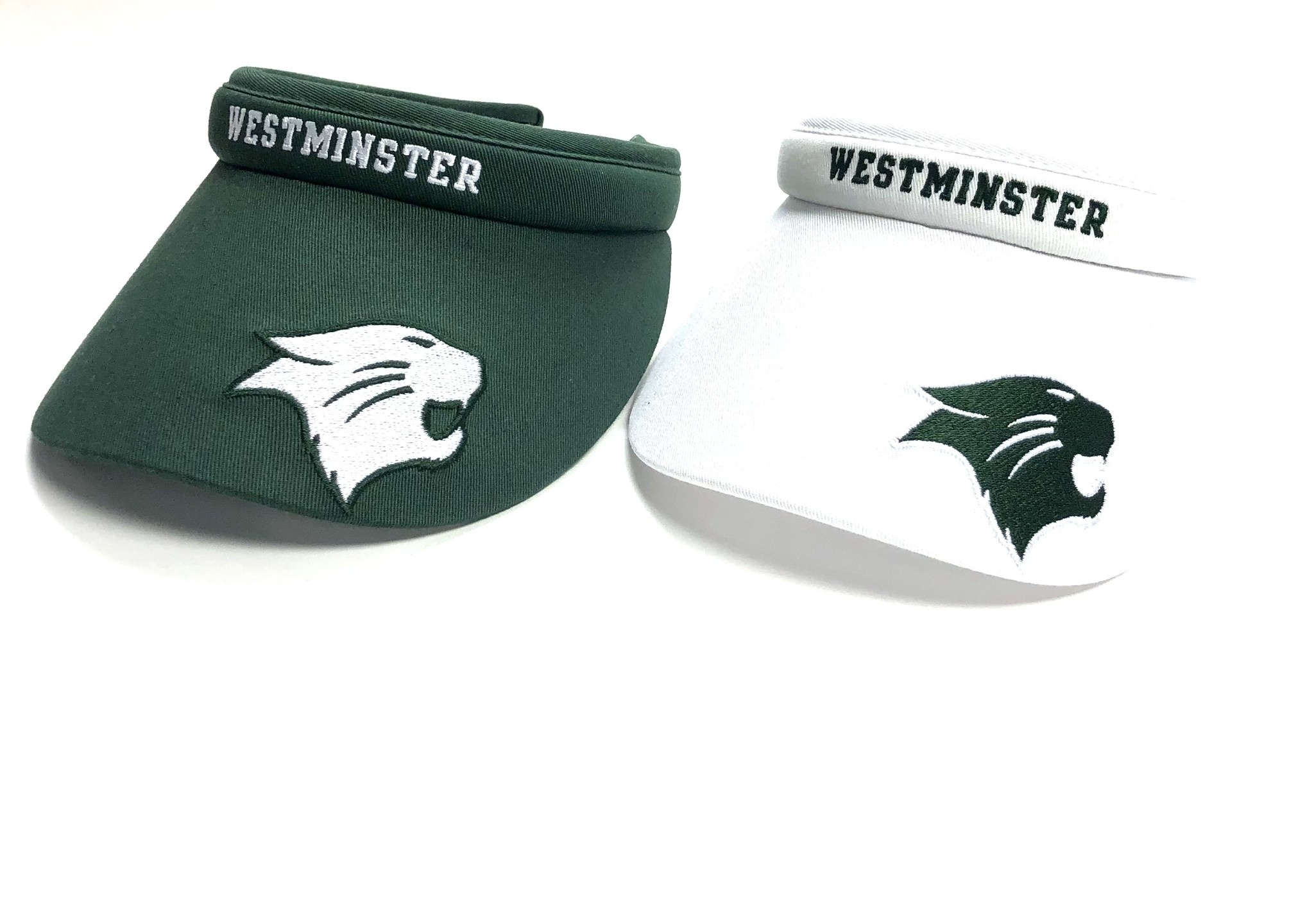 Champion Visor: Clip with White Westminster and Logo on Bill