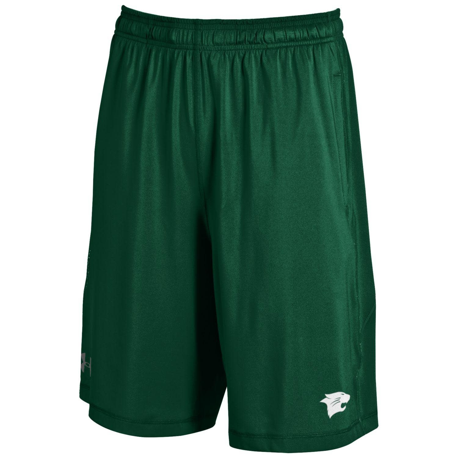 Under Armour Shorts: UA Raid Solid w/Wildcat - Forest