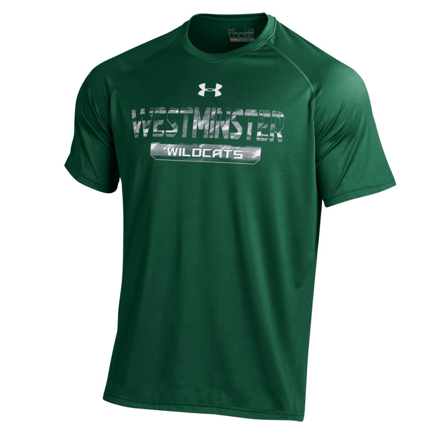 Under Armour T: UA Dri-fit SS Forest/Gray/White Marble West Wildcats