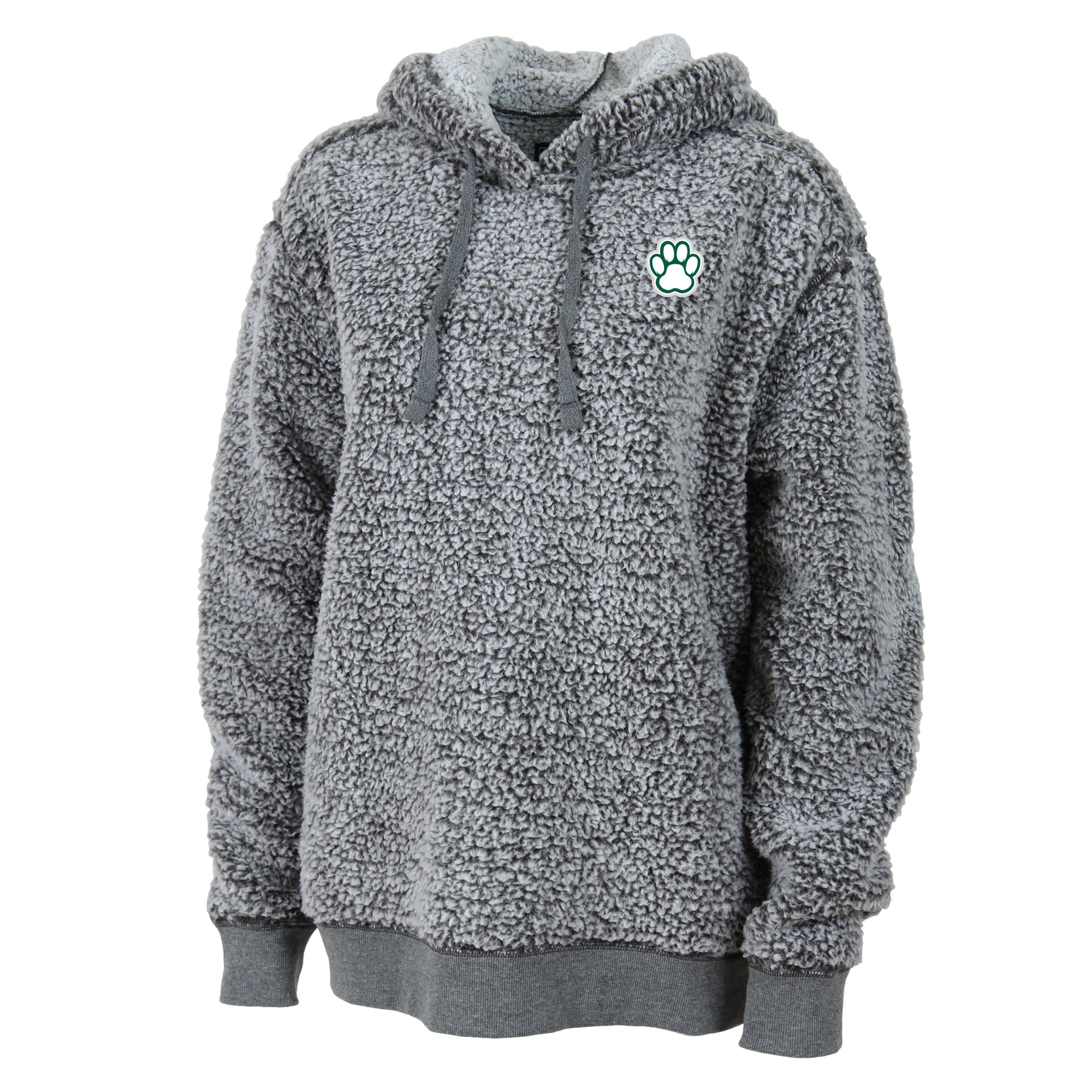 Boxercraft Pullover: Sherpa Hoodie - Frosty Gray