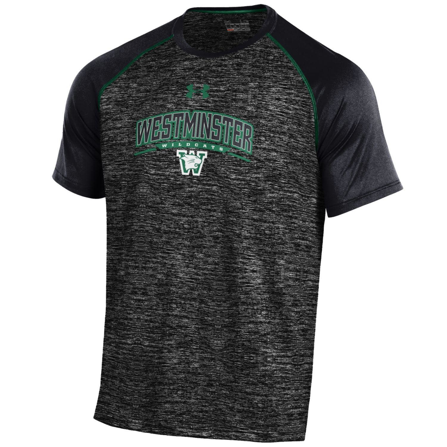 Under Armour T: UA XXL Dri-Fit SS Tech Tee - Black/Forest Green