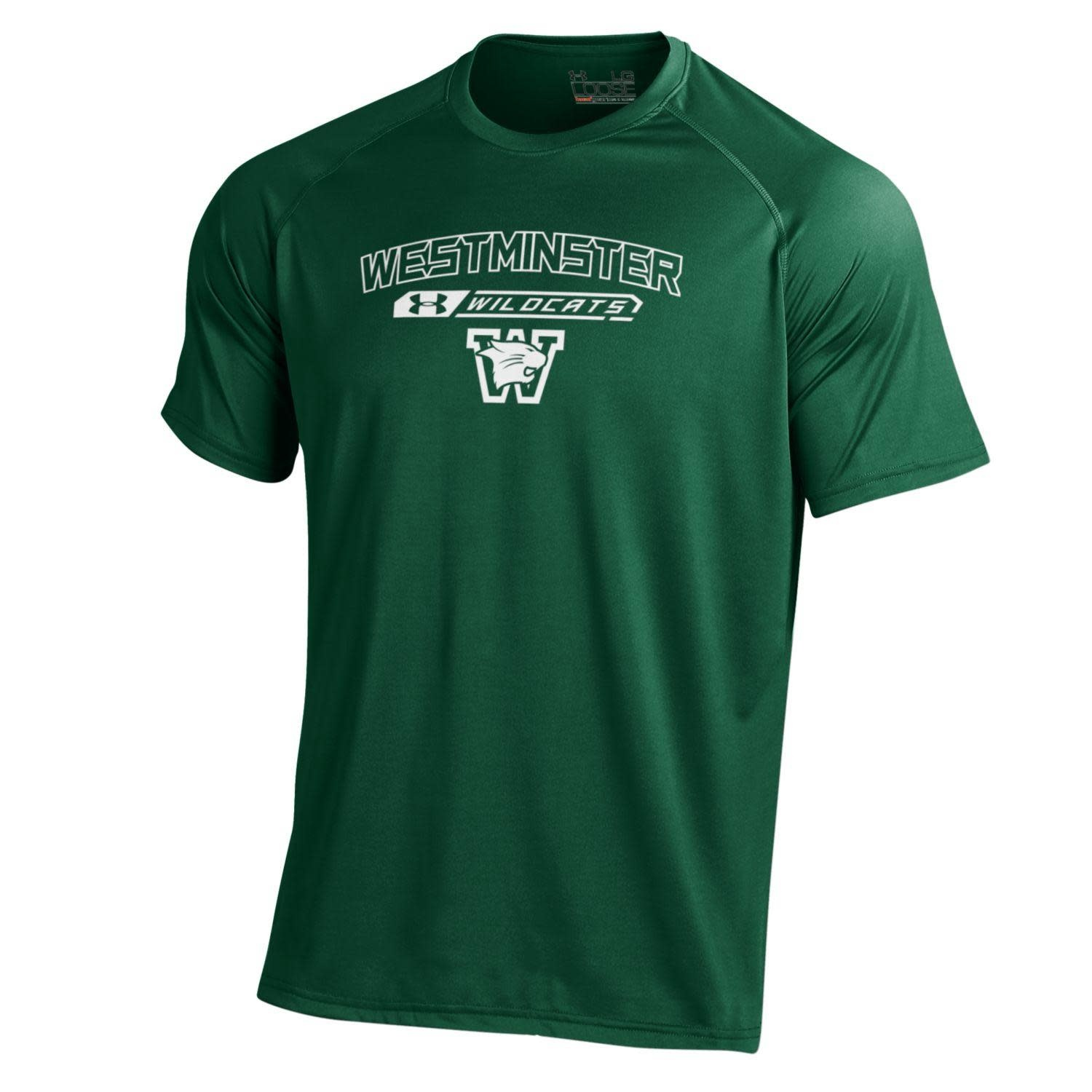 Under Armour T: UA Forest SS NuTech West over Wild over Logo