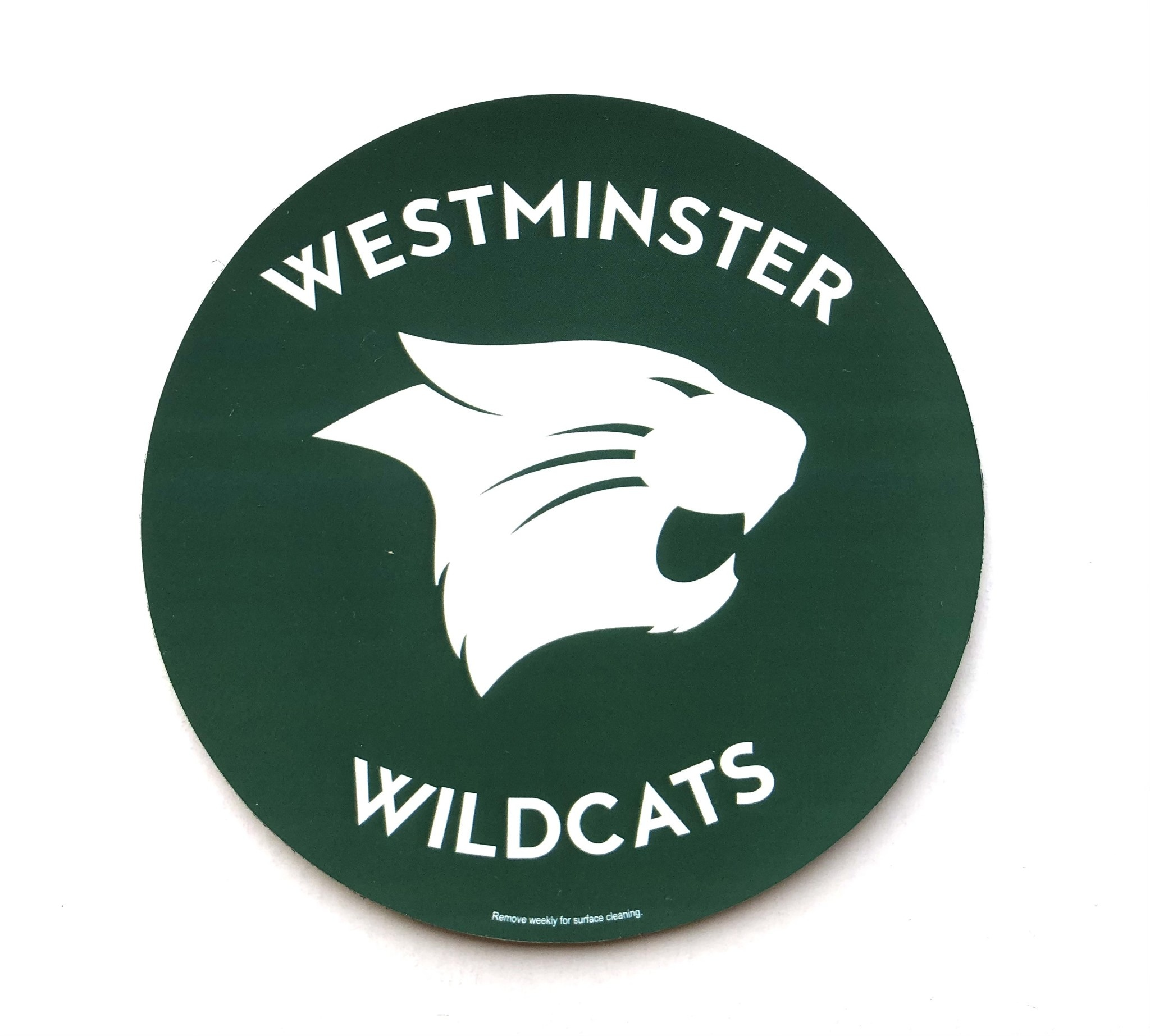 Magnet: Round Green - Westminster Wildcats