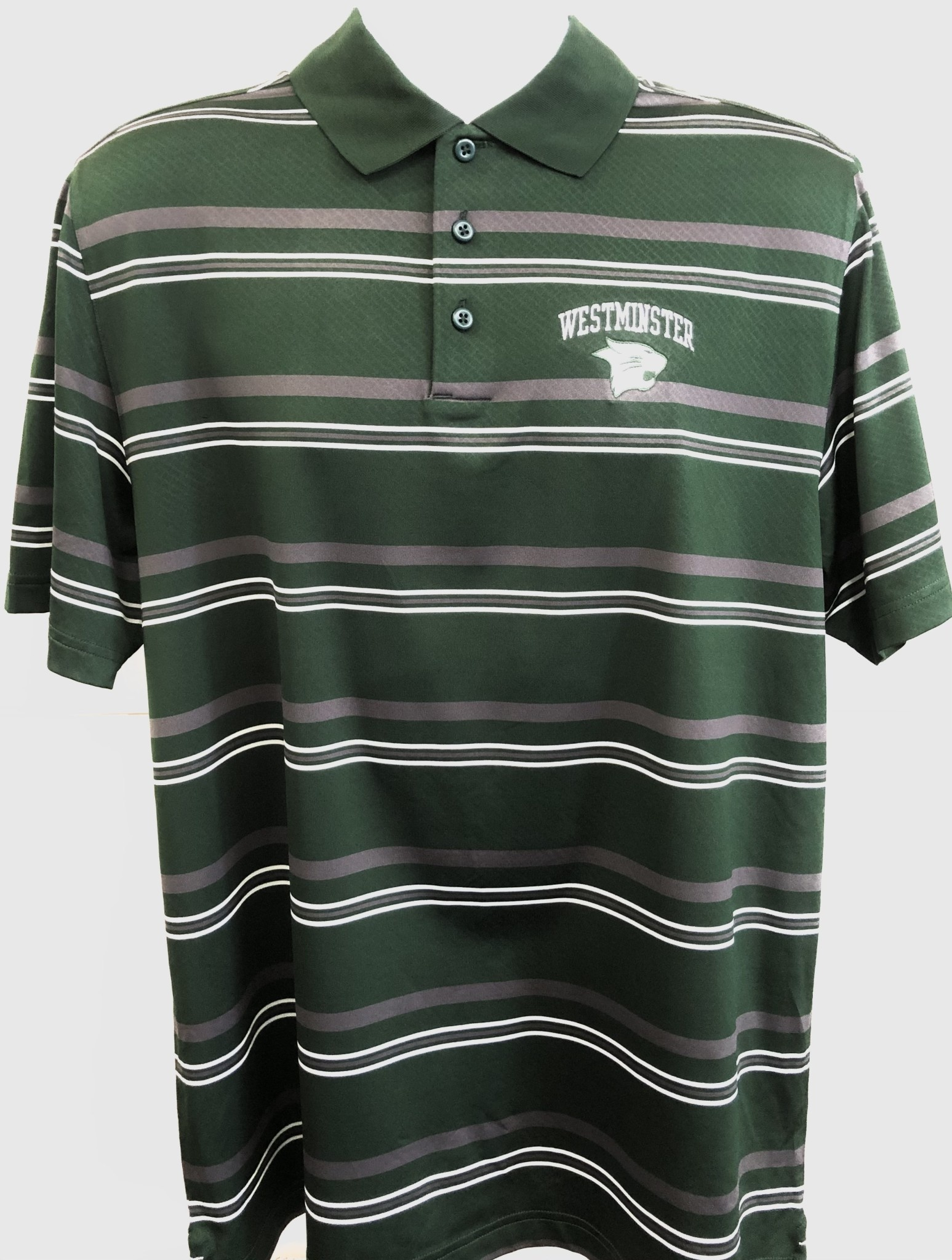Under Armour Polo: UA Links Striped with White Cathead