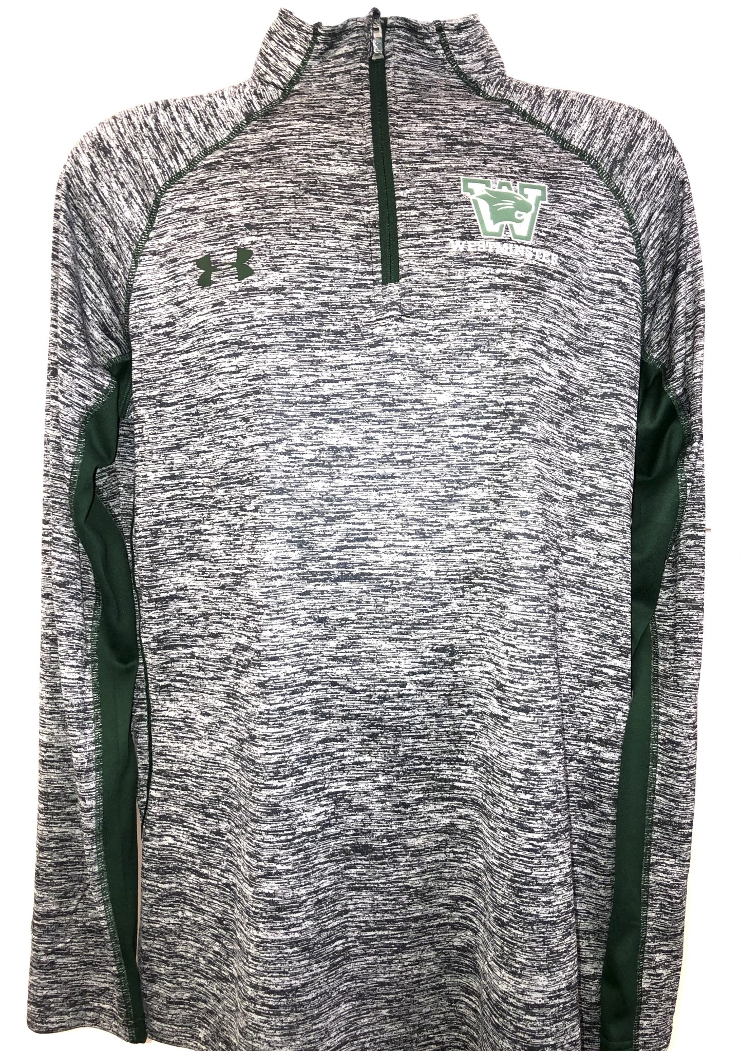 Under Armour Pullover: UA S 1/4 Zip Black/Forest Loose Tech Twist