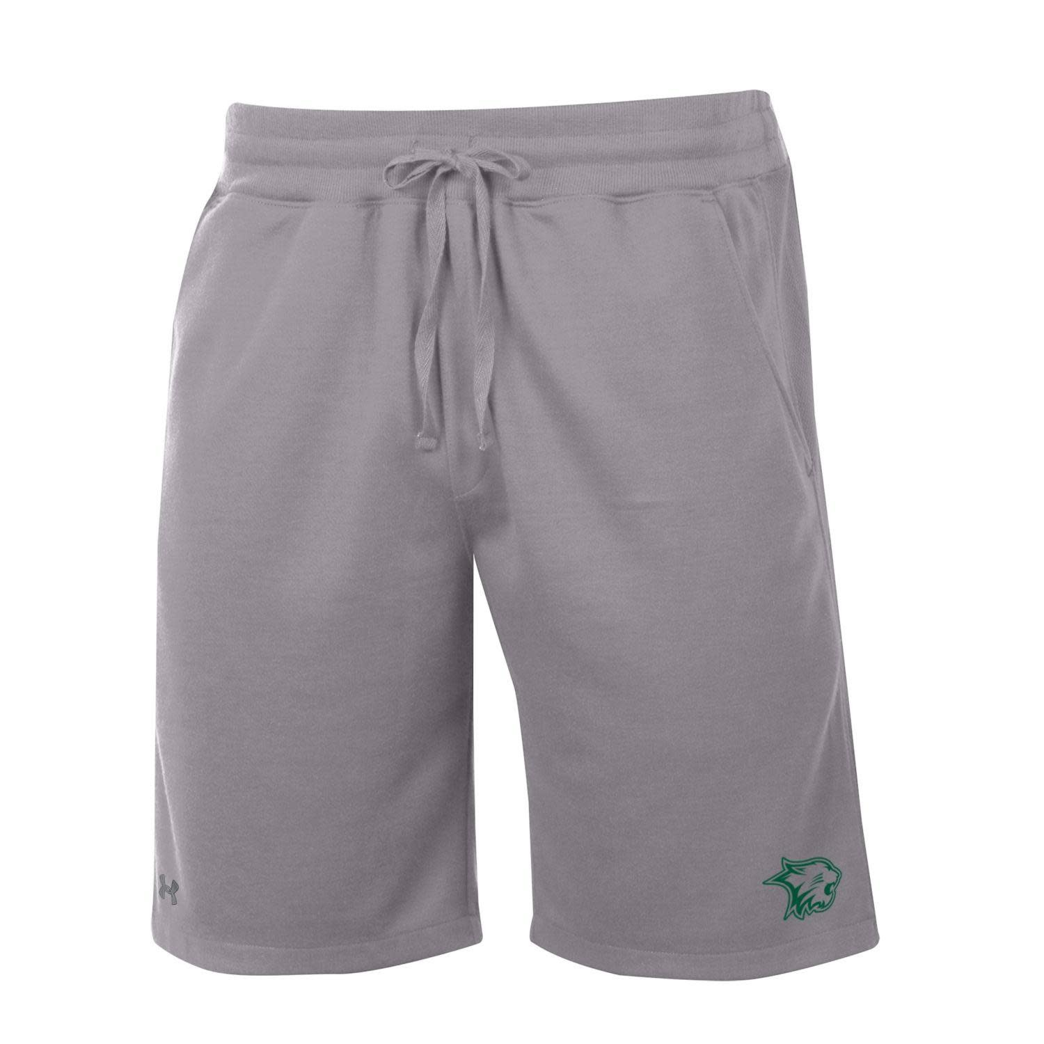 Under Armour Shorts: Men's Fleece w/pockets - Gray