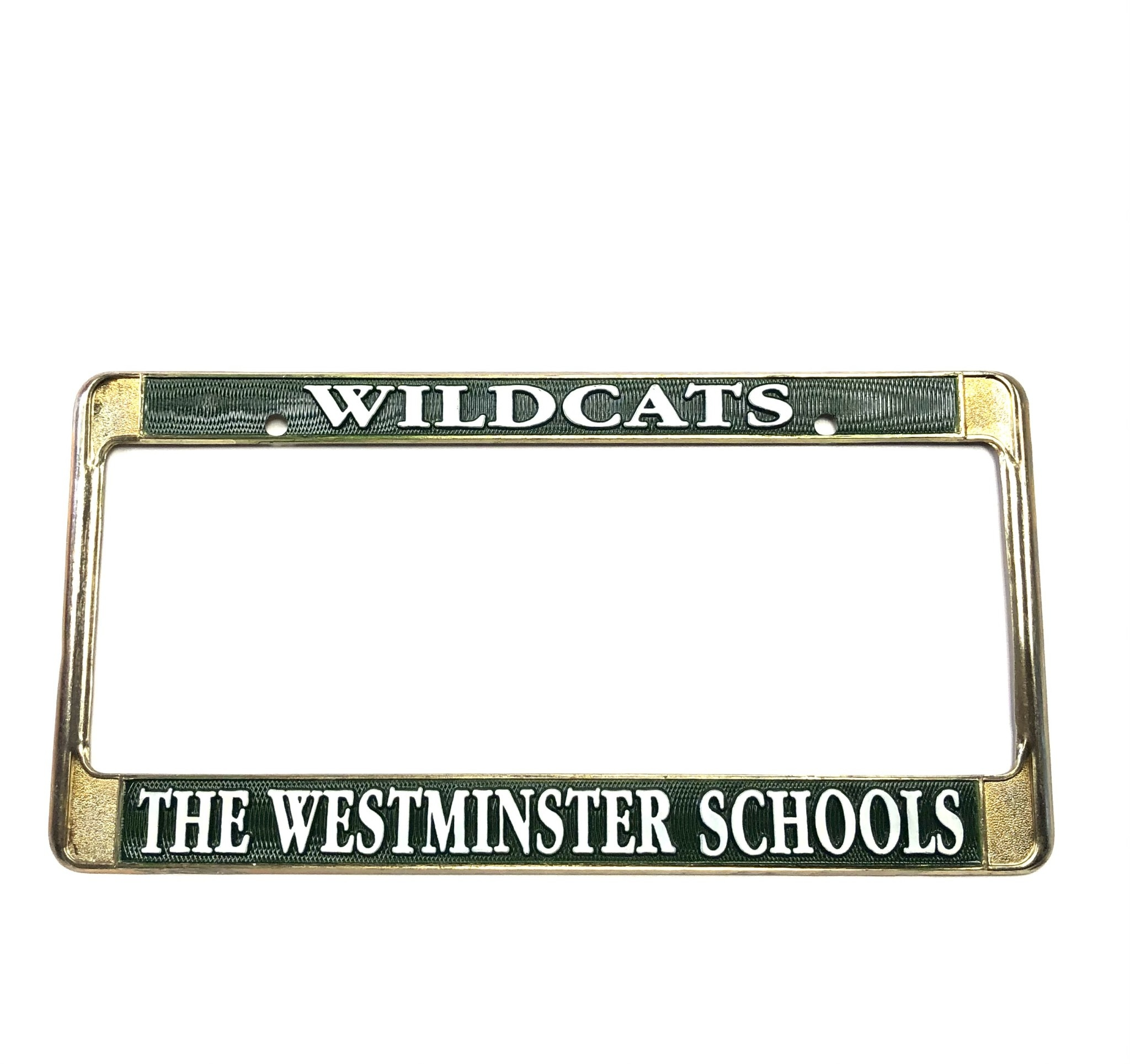 License Frame: Westminster Gold