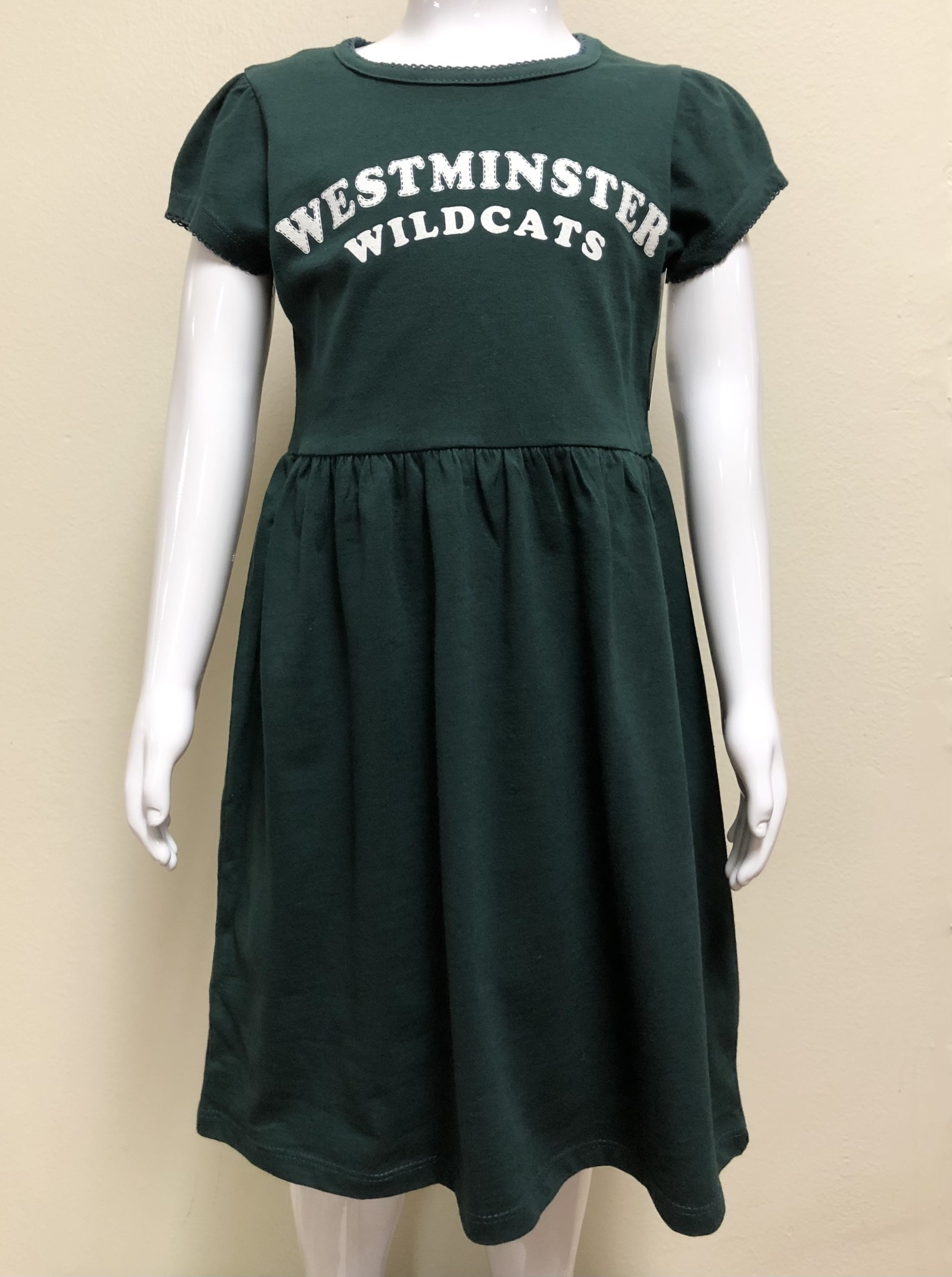 College Kids Dress: College Kids - 5/6 Youth Girls - Dark Green Holly Jane Dress