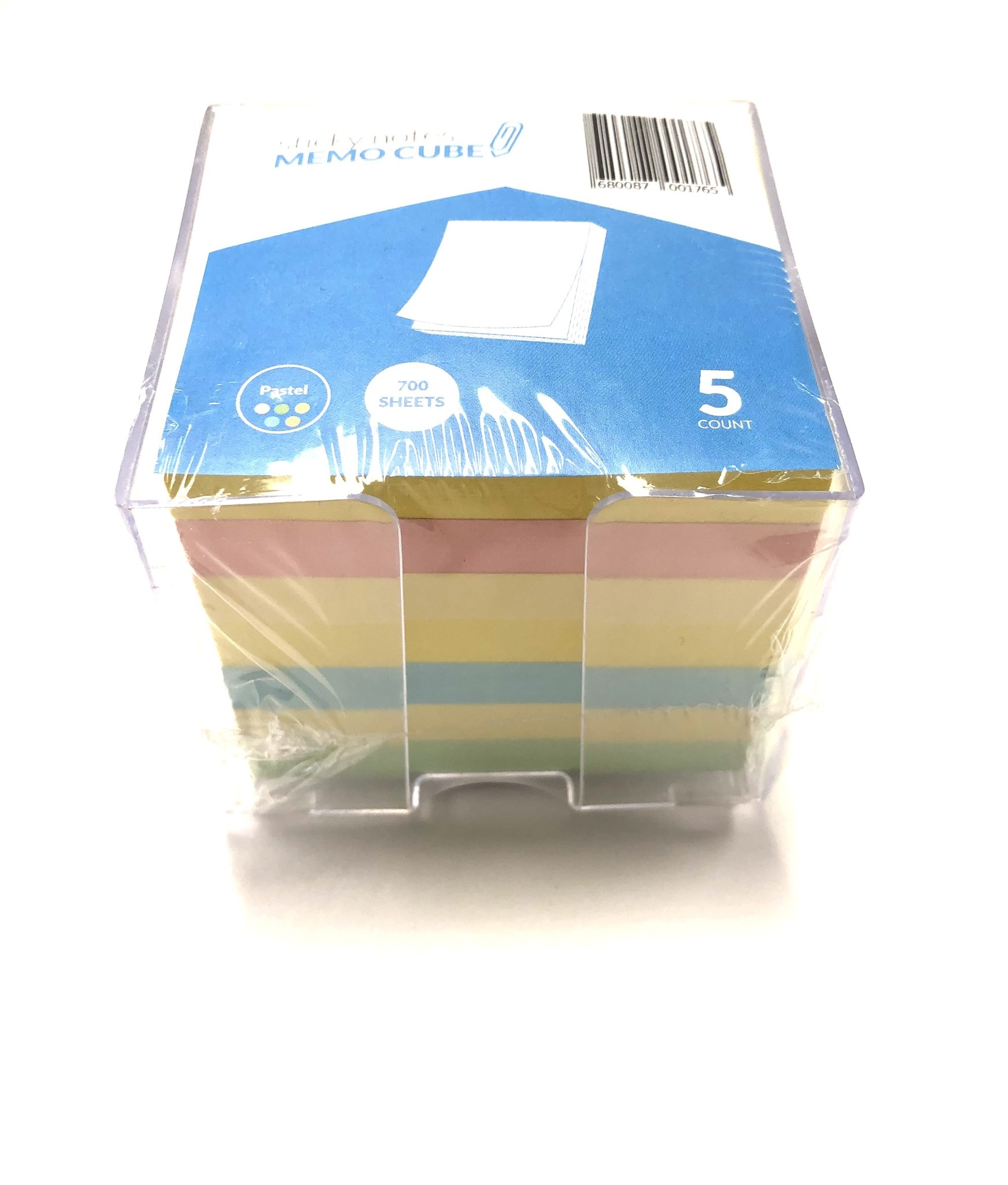 Sticky Notes Memo Cube in Holder