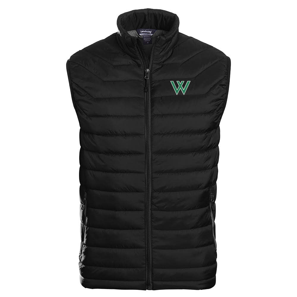 Landway Outerwear Vest: Uscape Apparel Landway Outerwear Men's Carbon Puffer