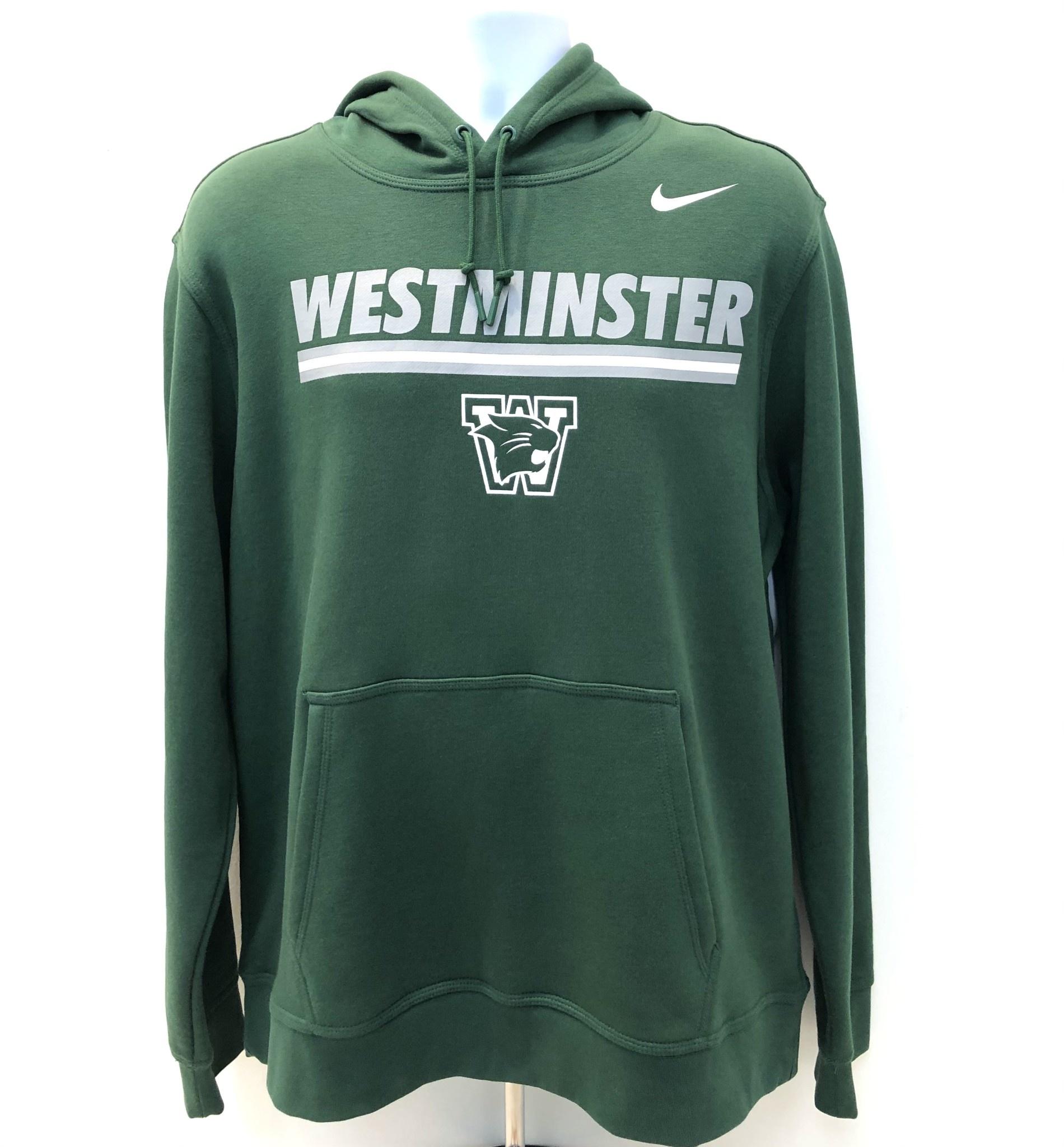 Nike Sweatshirt: Nike Stadium Club Fleece Hoody Westminster with lines -- Green