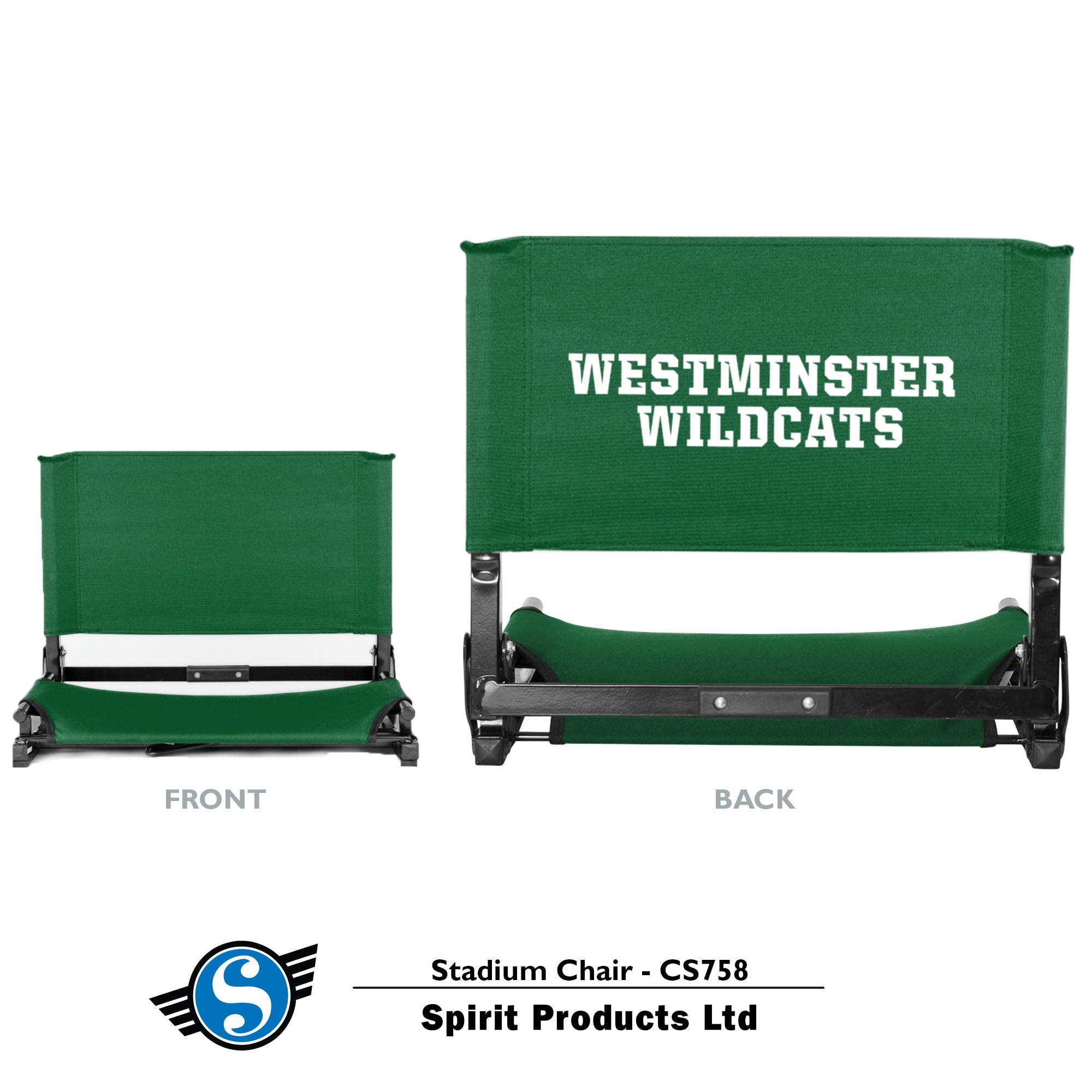 Stadium Seat- Green Canvas