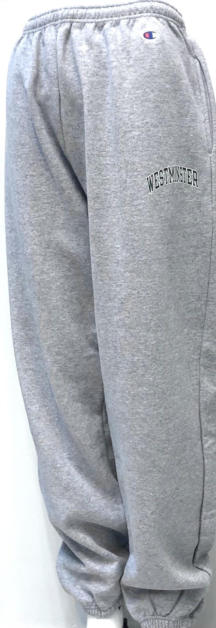 Champion Sweatpants: Champion Gray Closed Bottom
