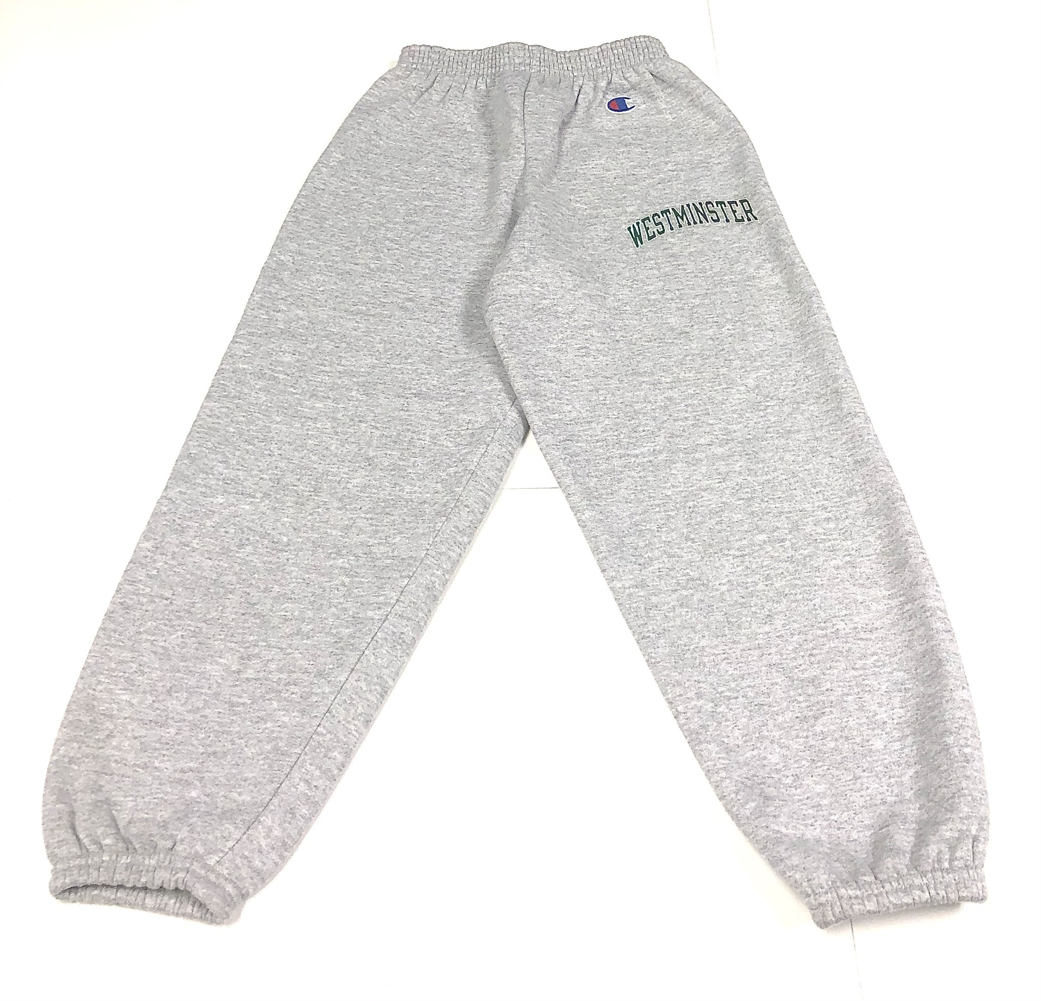 Champion Sweatpants: Champion Gray Elastic Bottom
