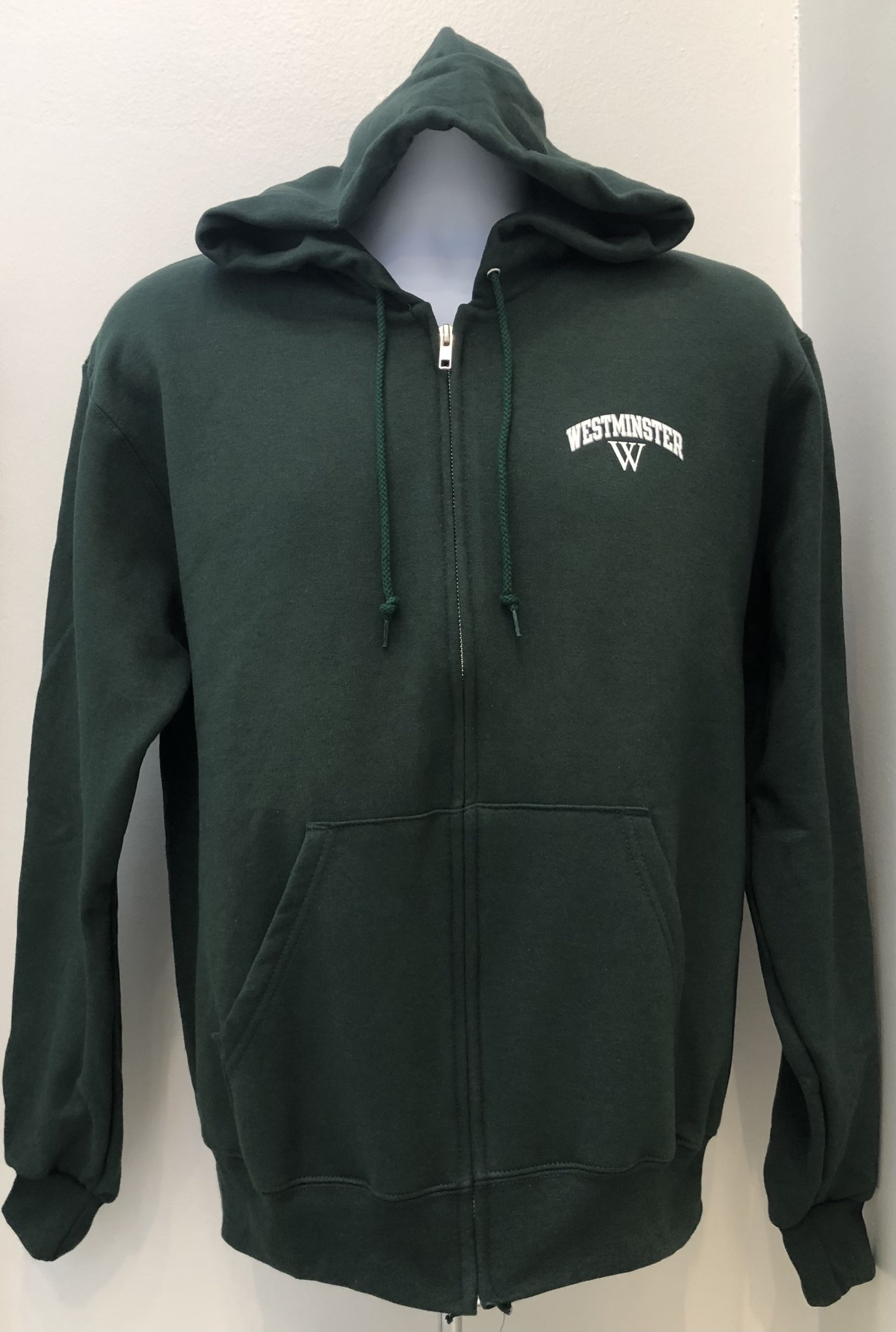 Champion Jacket: Champion Eco Fleece Green Full Zip Hoody Westminster over W