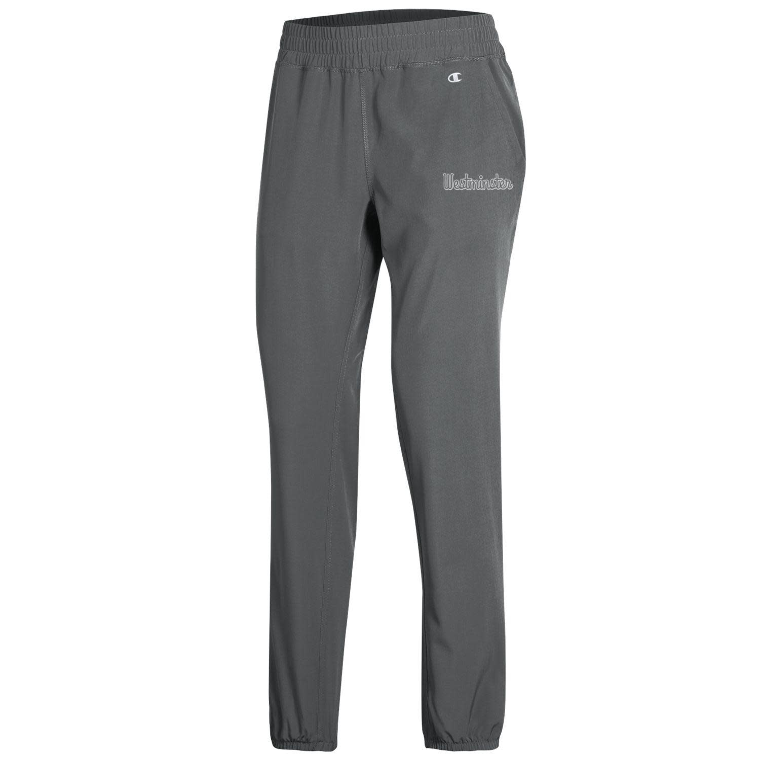 Champion Pant: Champion Women's Woven Stretch Titanium