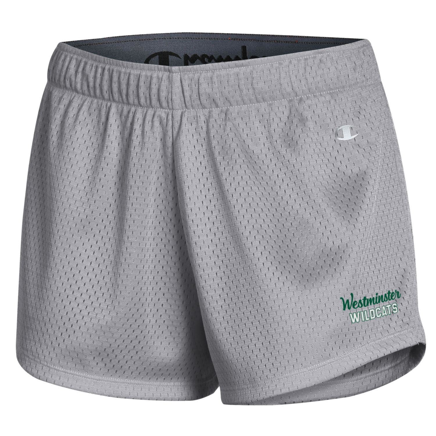 Champion Short: Champion Women's Mesh Short, Active Gray